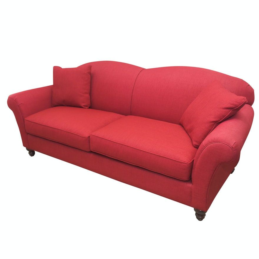 Arhaus Contemporary Red Upholstered Sofa : EBTH