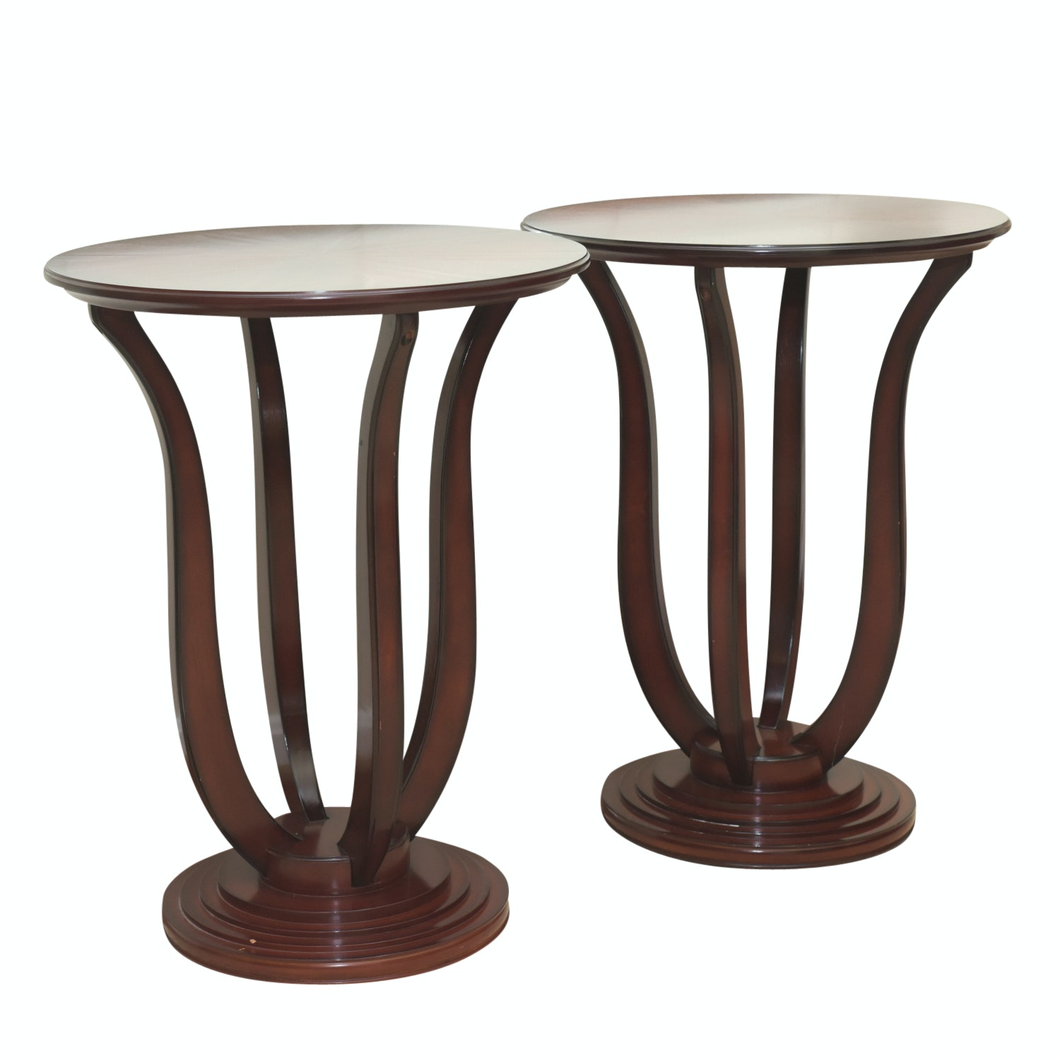 Bombay Company Contemporary Pedestal Side Tables