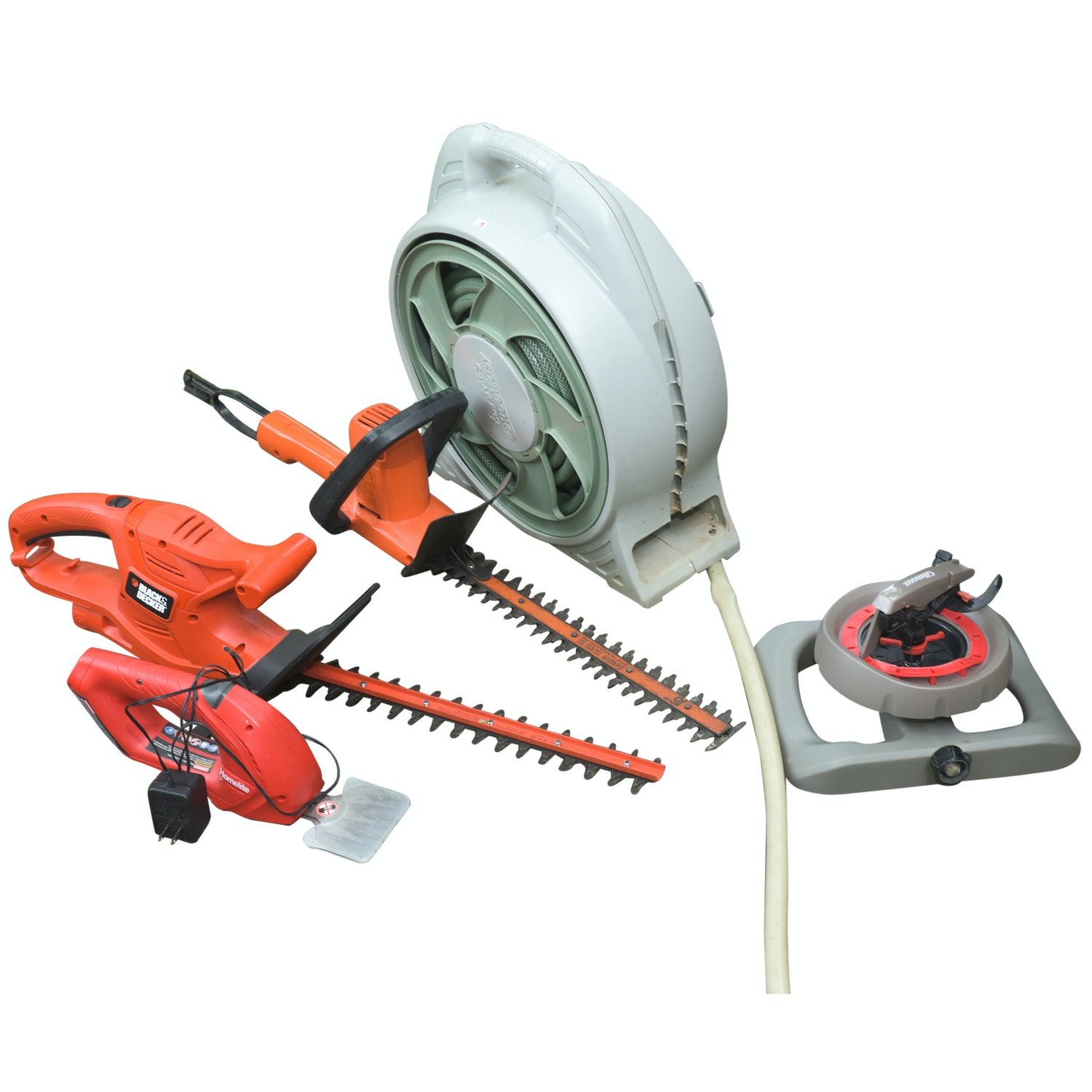 Black & Decker Hedge Trimmers, Homelite Cordless Shear, and Other Garden Tools
