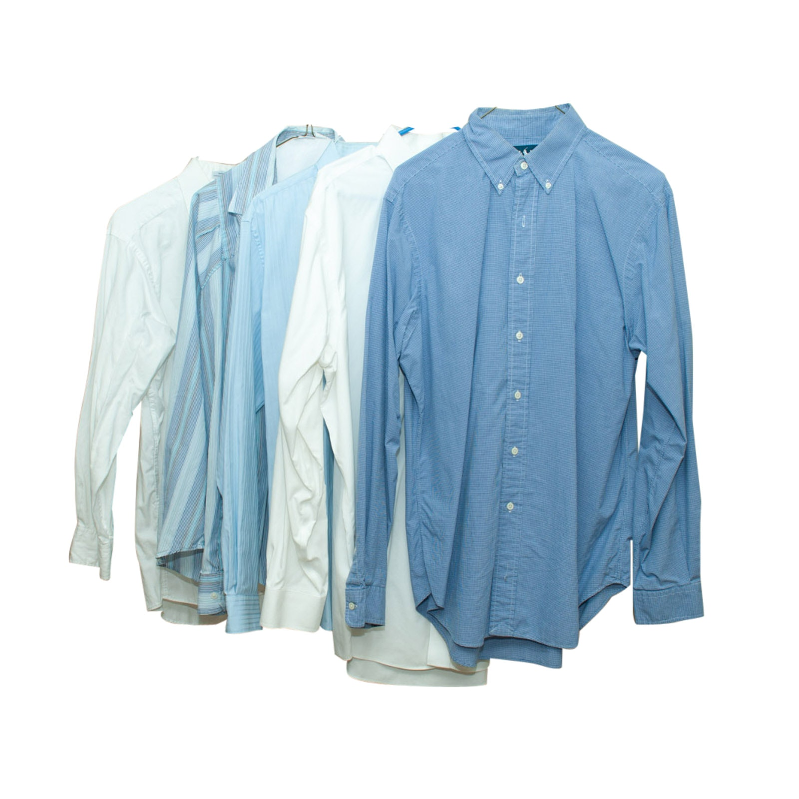 Men's Button-Front Dress Shirts Including Kenneth Cole and Brooks Brothers