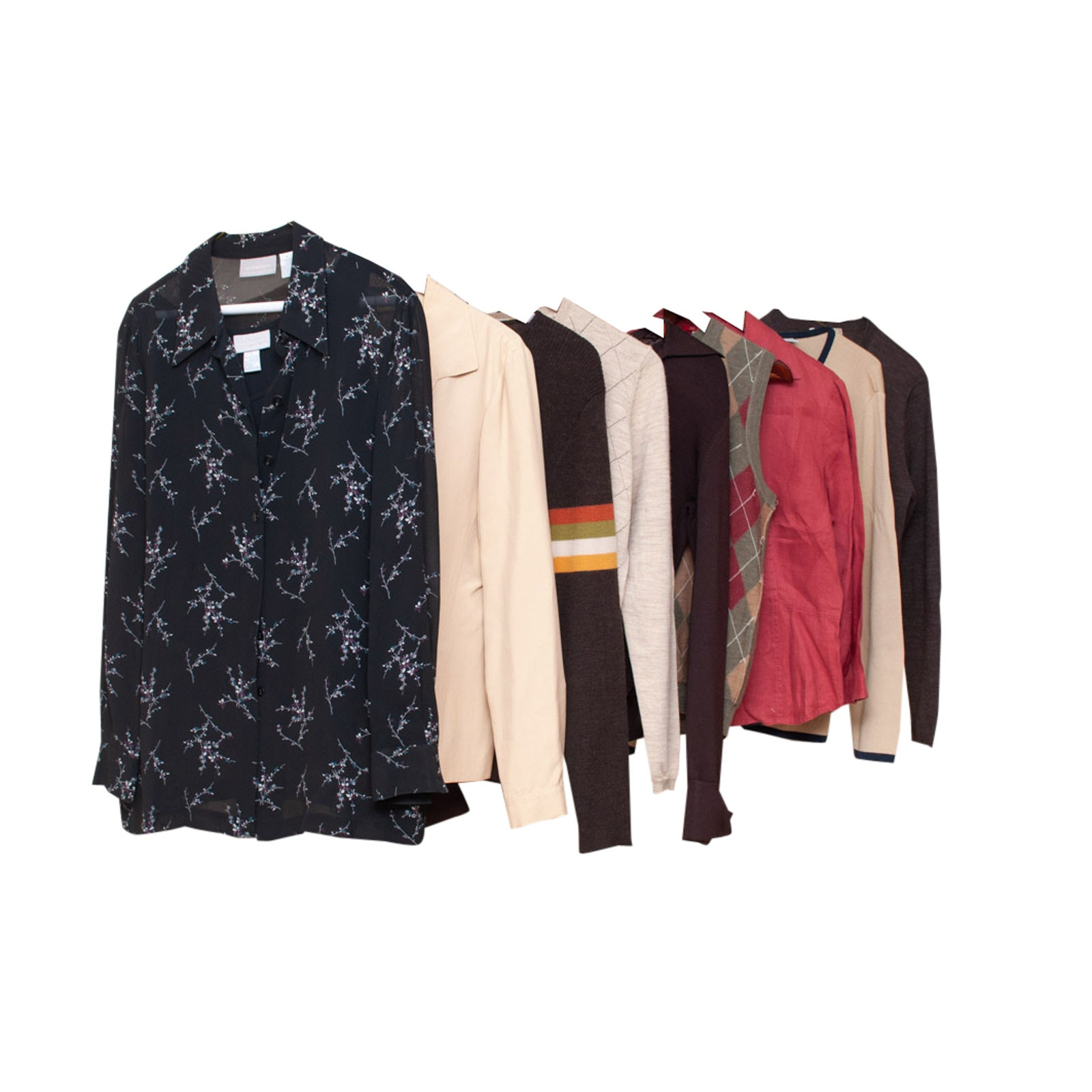 Women's Sweaters and Shirts Including Brooks Brothers and Ann Talor Loft