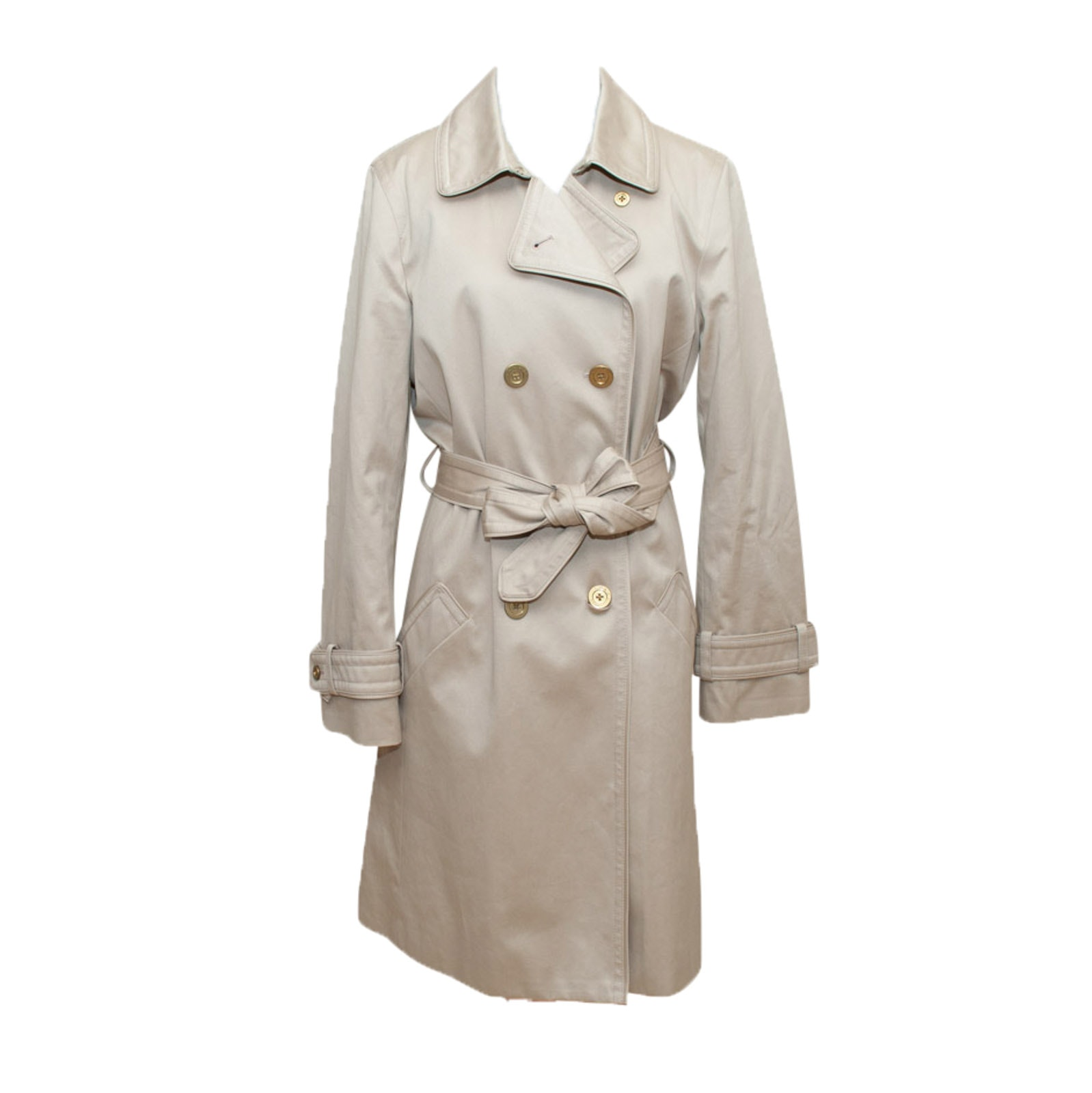 Women's Coach Double-Breasted Trench Coat