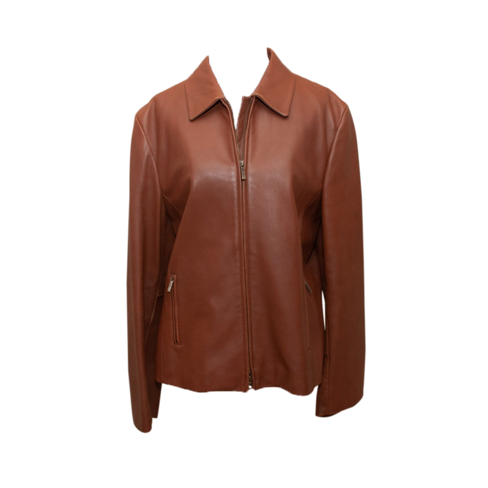 Brooks Brothers Brown Leather Jacket