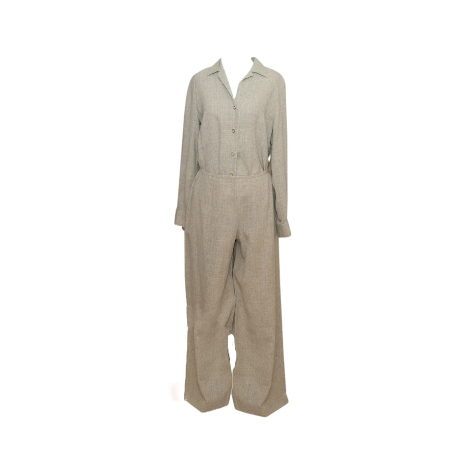 Women's Escada Two-Piece Set in Linen and Wool Blend