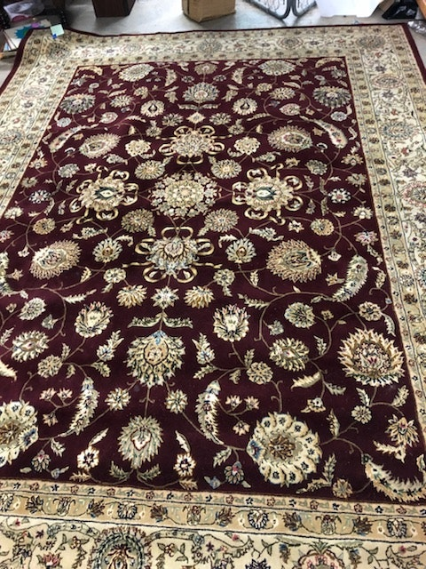 Machine Made Persian Style Wool and Silk Area Rug