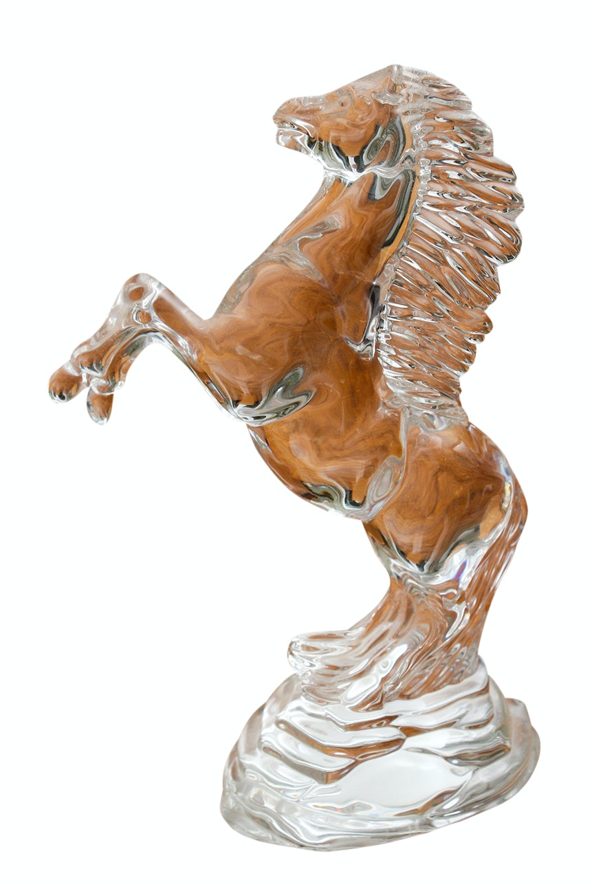 "Waterford ""Rearing Horse"" Crystal Figurine"