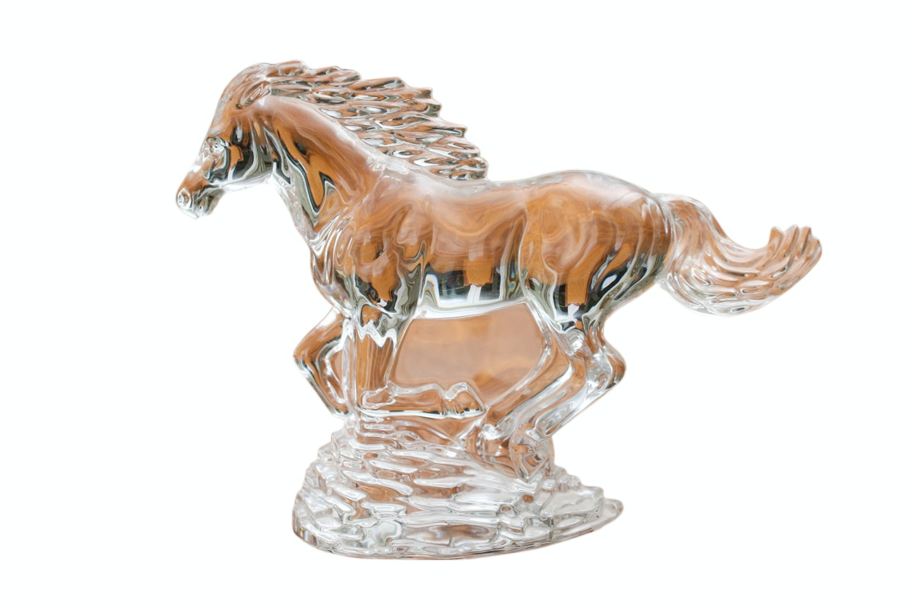Waterford Galloping Horse Crystal Figurine