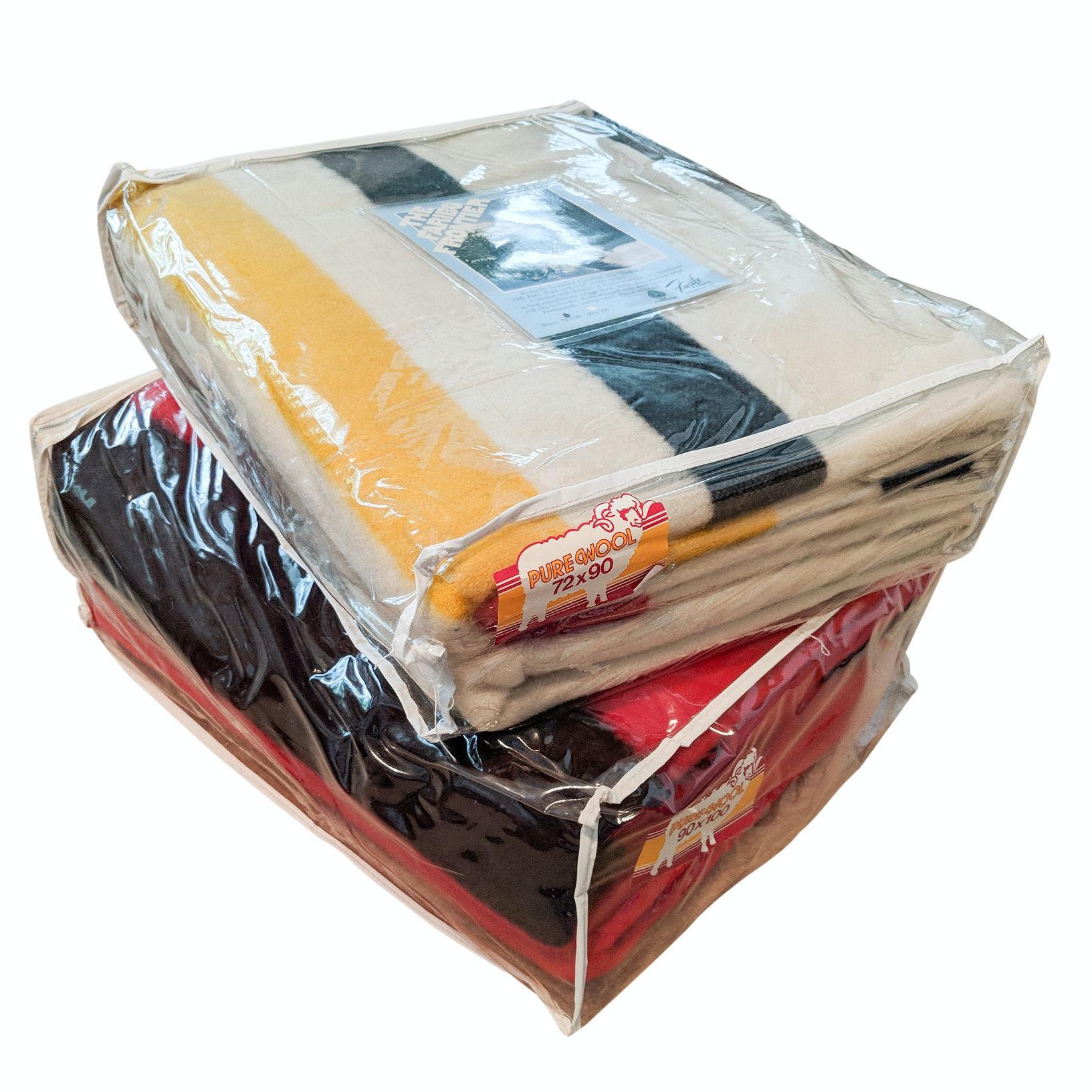 Vintage Hudson Bay Style Fabrino Wool Blankets