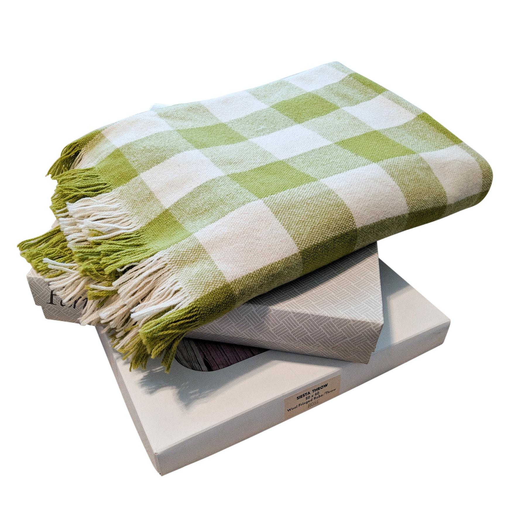 Three Vintage Fabrino Wool Afghan Blankets