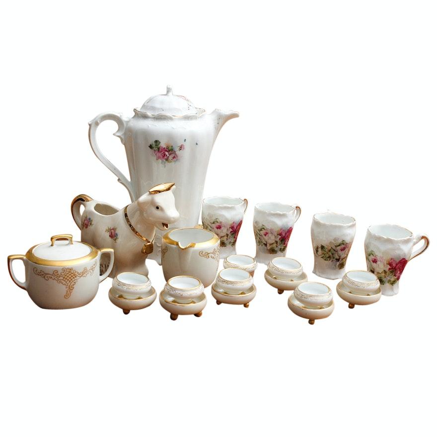 Antique Mz Austria Porcelain And Rose Tea Set Ebth
