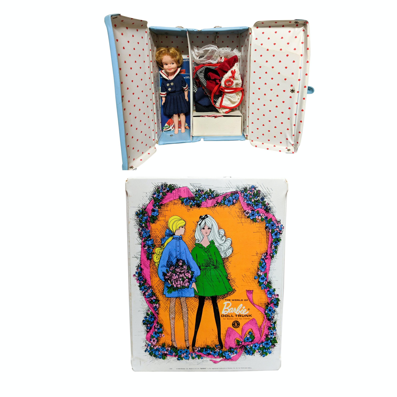 Vintage Dolls, Accessories And Storage Cases Circa 1960s