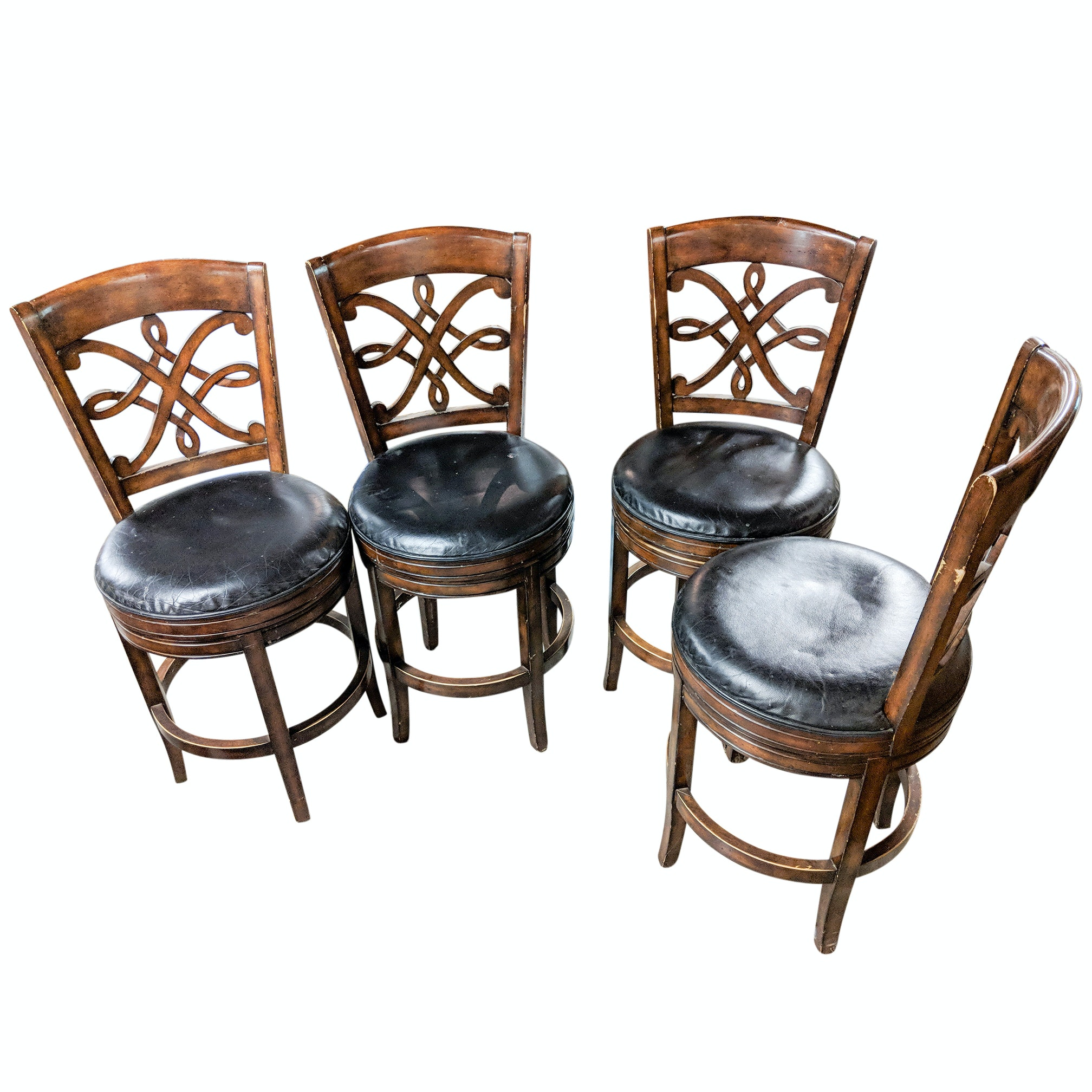 Four Frontgate Swivel Bar Chairs By Hillsdale Furniture Ebth