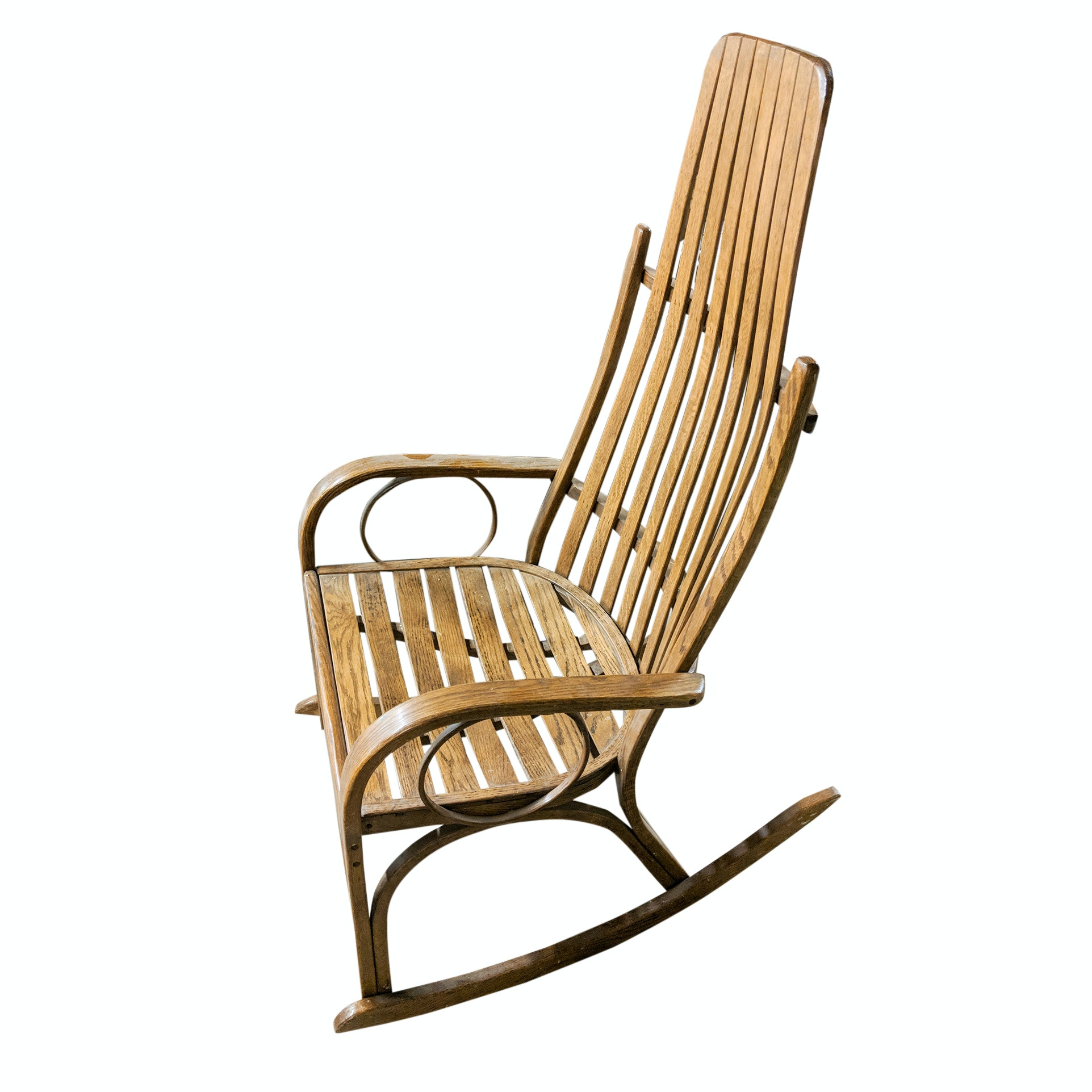Vintage Old Hickory Style Oak Rocking Chair
