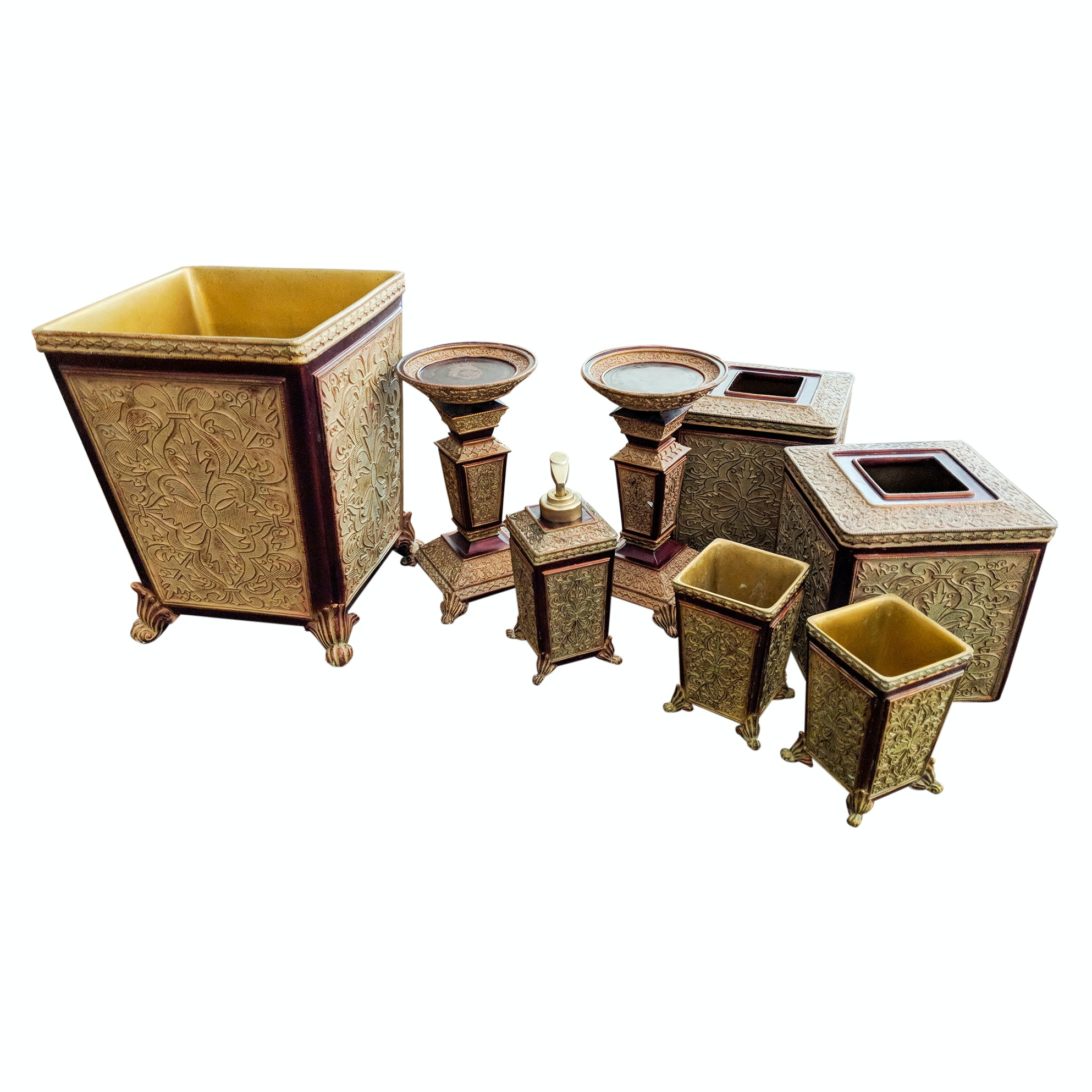 Versailles 8-Piece Resin Bathroom Accessories and Vanity Set