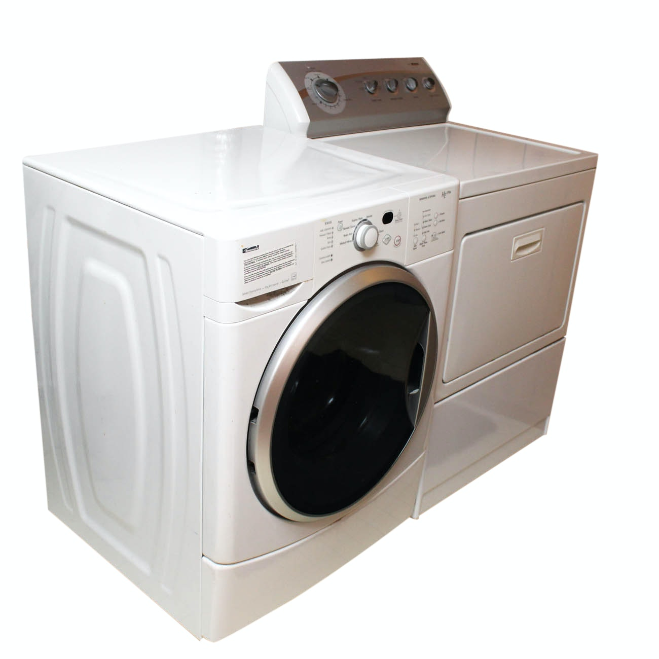 Kenmore HE 2 Plus Front Load Washer and 800 Dryer