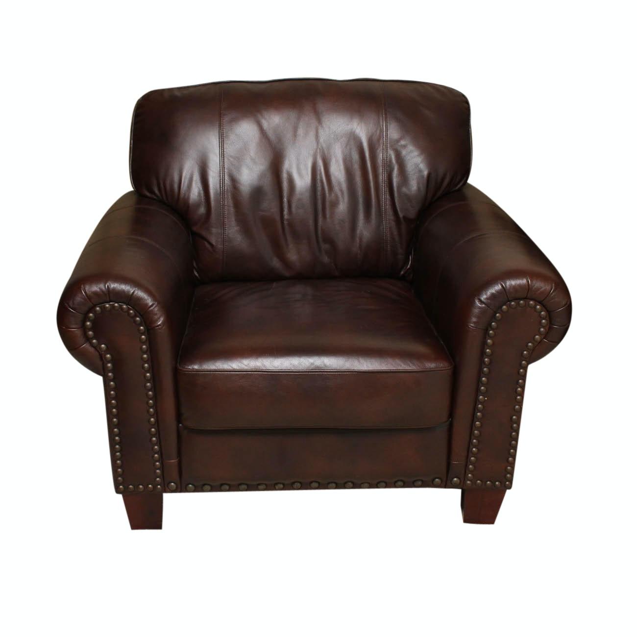 Oversized Leather Armchair
