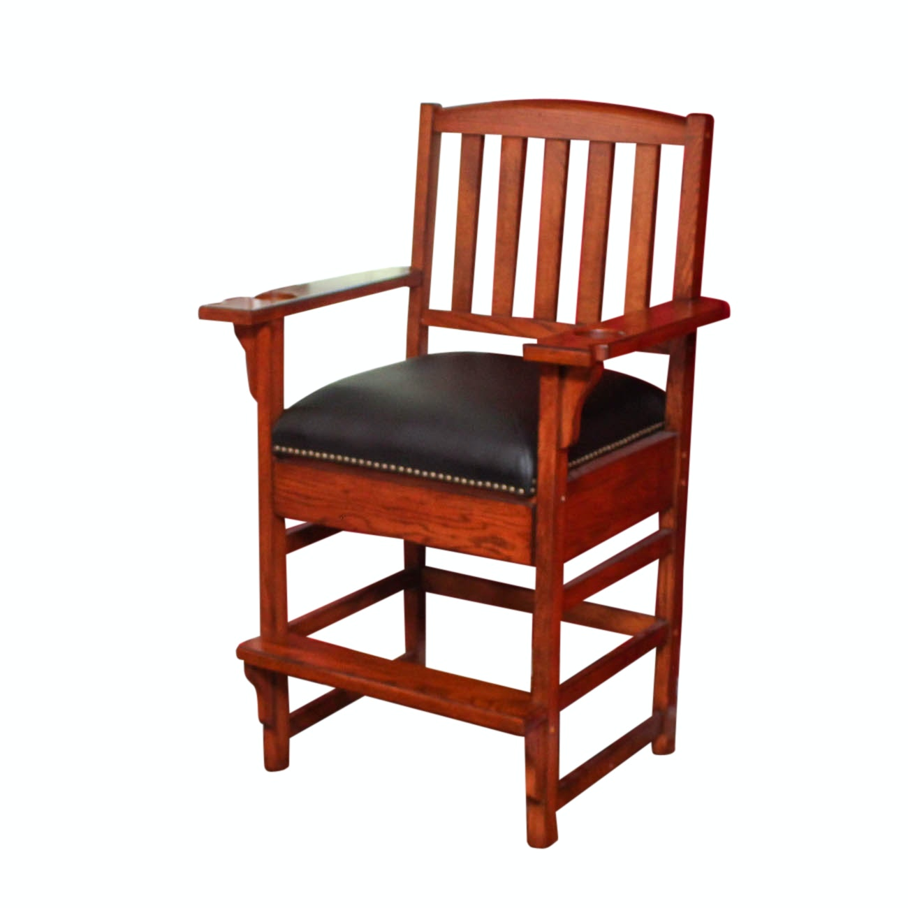 American Heritage Oak Billiards Chair