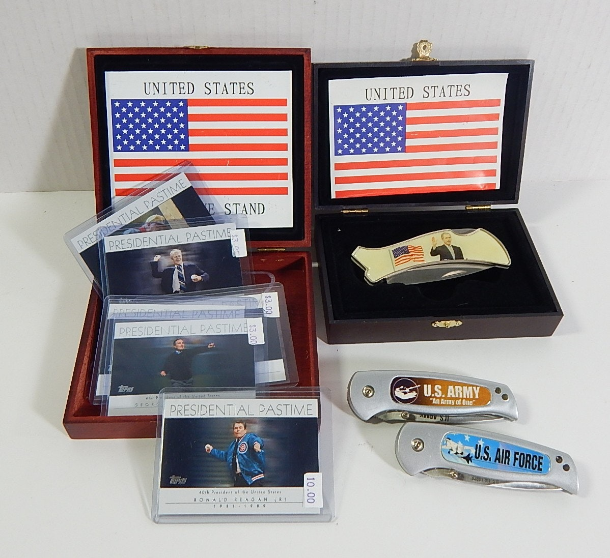 Presidential Knife Collection and Trading Cards