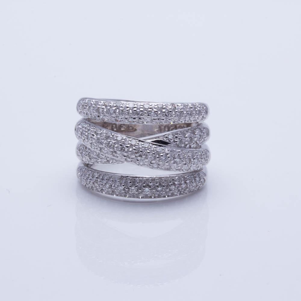 LeVian 18K White Gold 1.35 CTW Diamond Ring