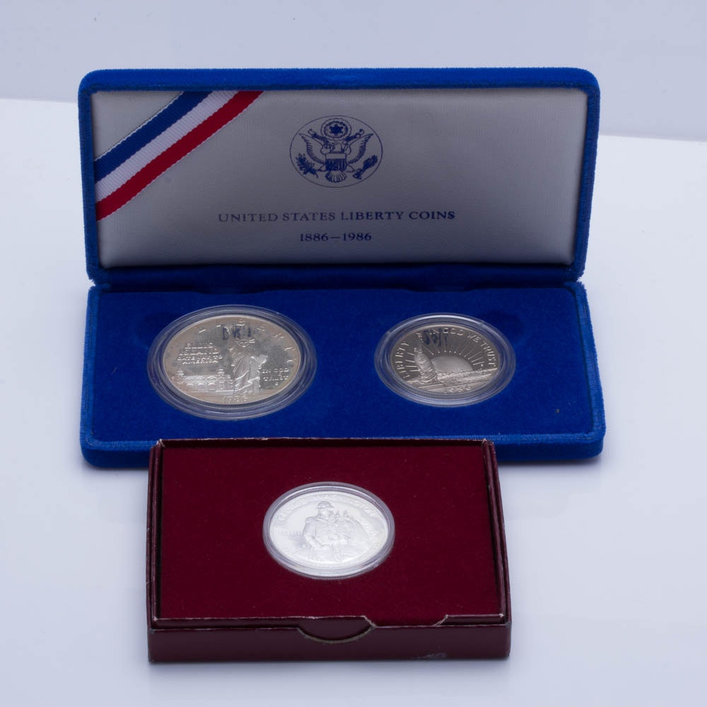 Three U.S. Commemorative Proof Coins from the 1980s