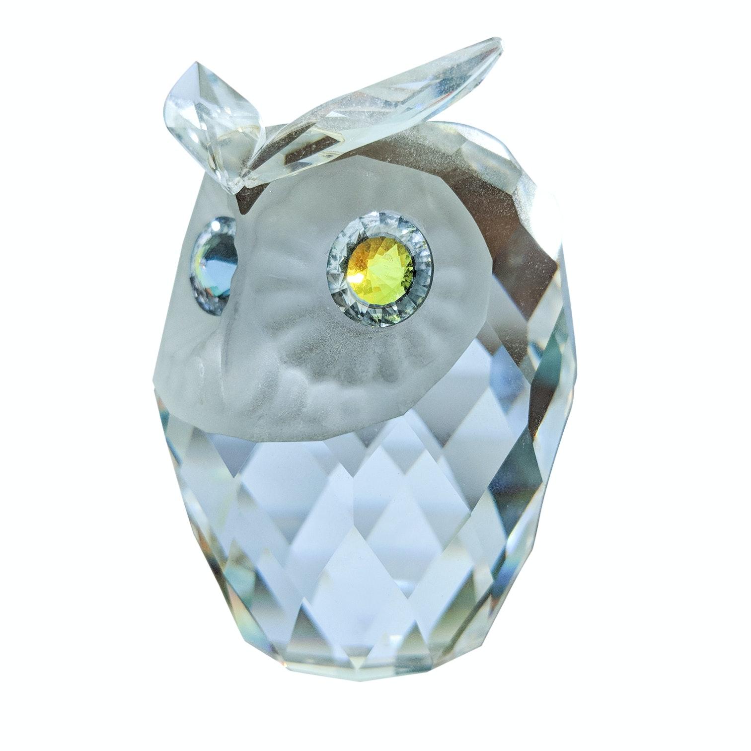 Swarovski Crystal Owl Figurine