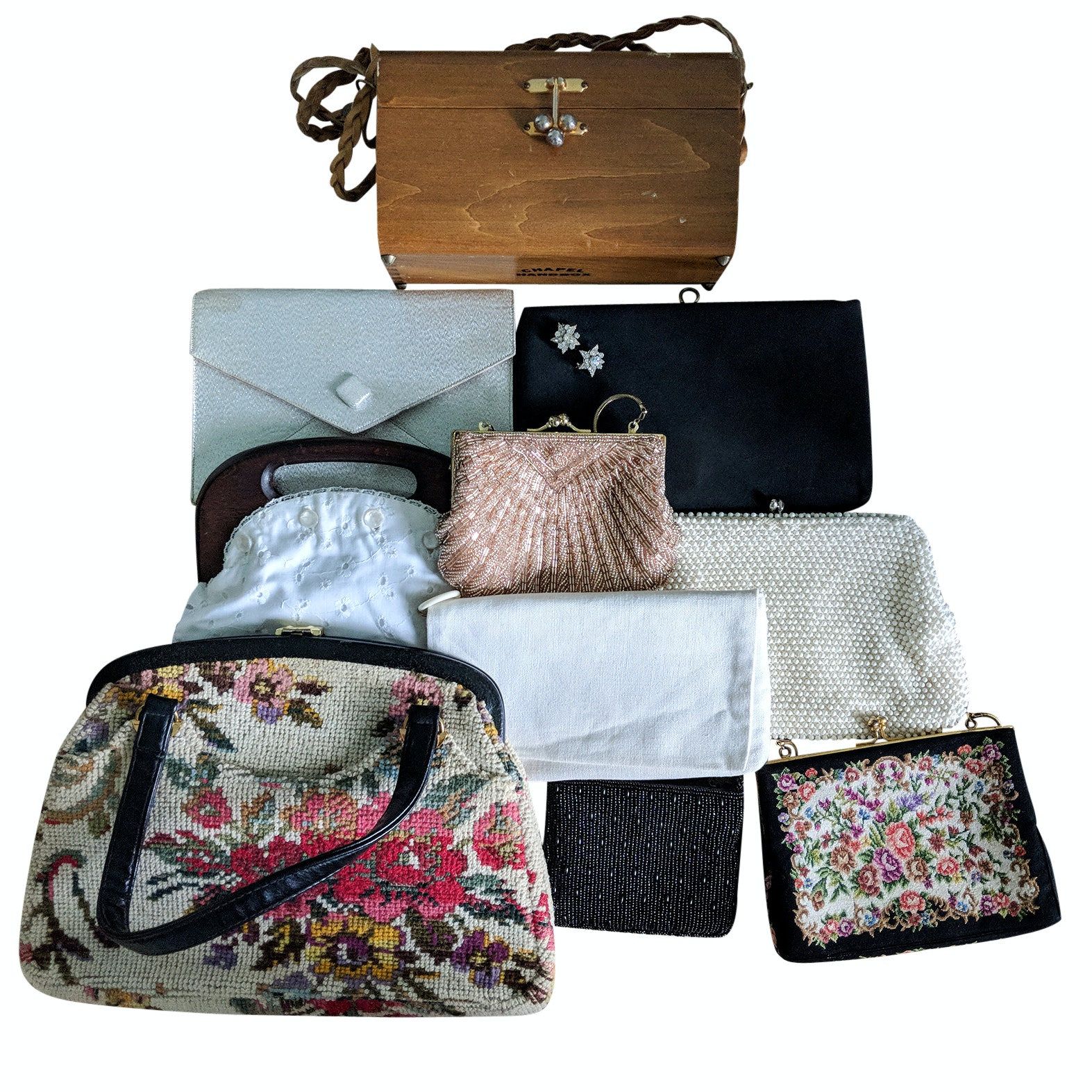 Vintage Tapestry, Evening Bags and Clutches