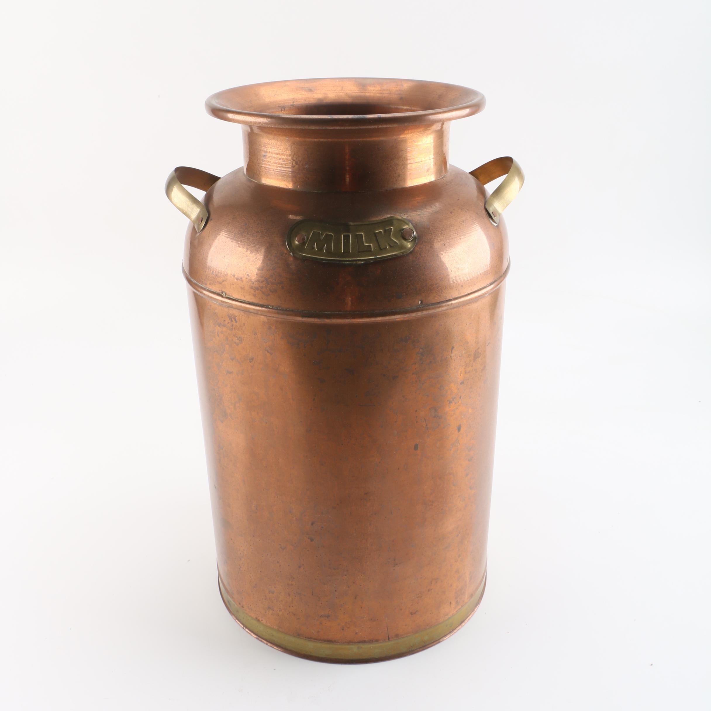Decorative Copper Clad Milk Can