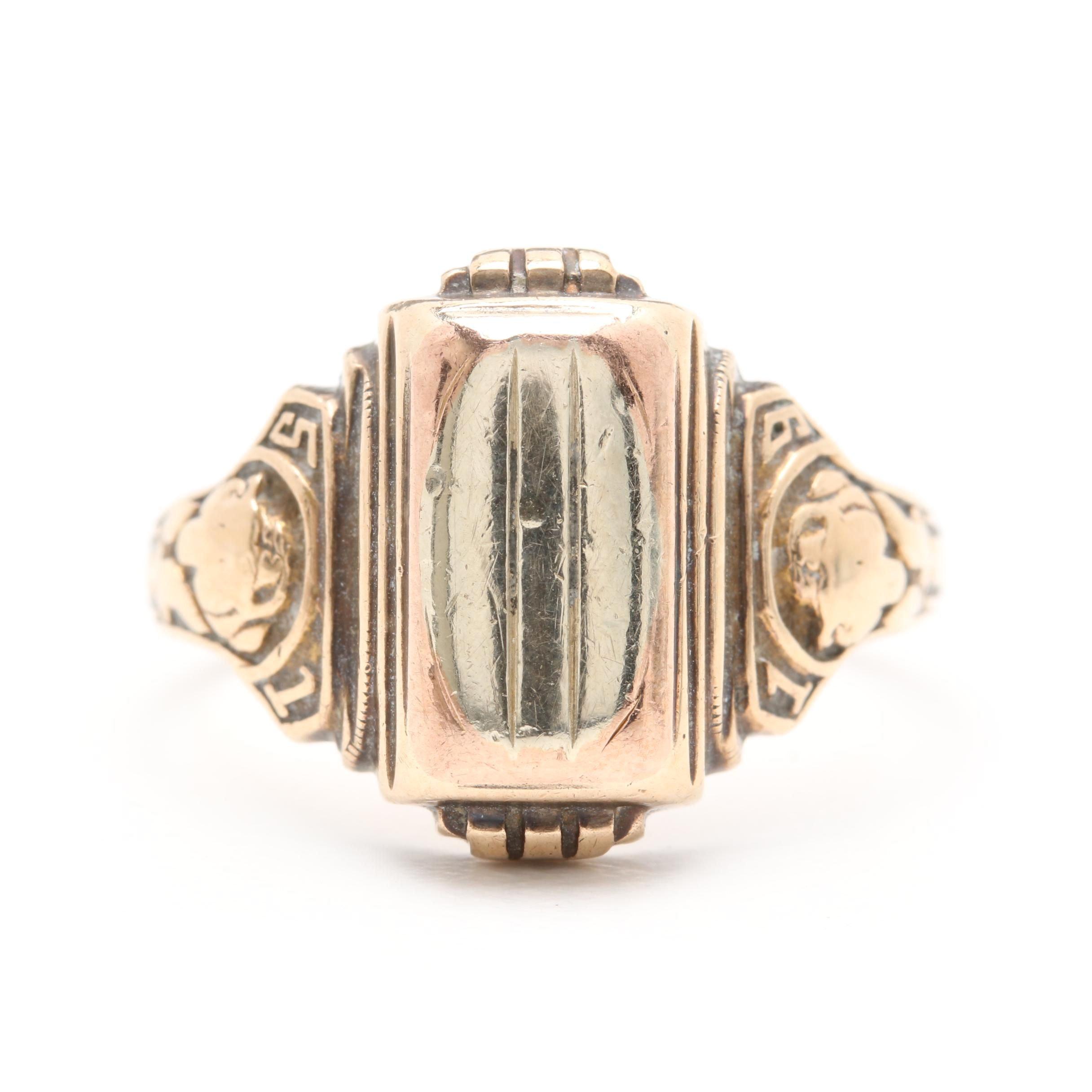 1951 10K Yellow Gold Class Ring