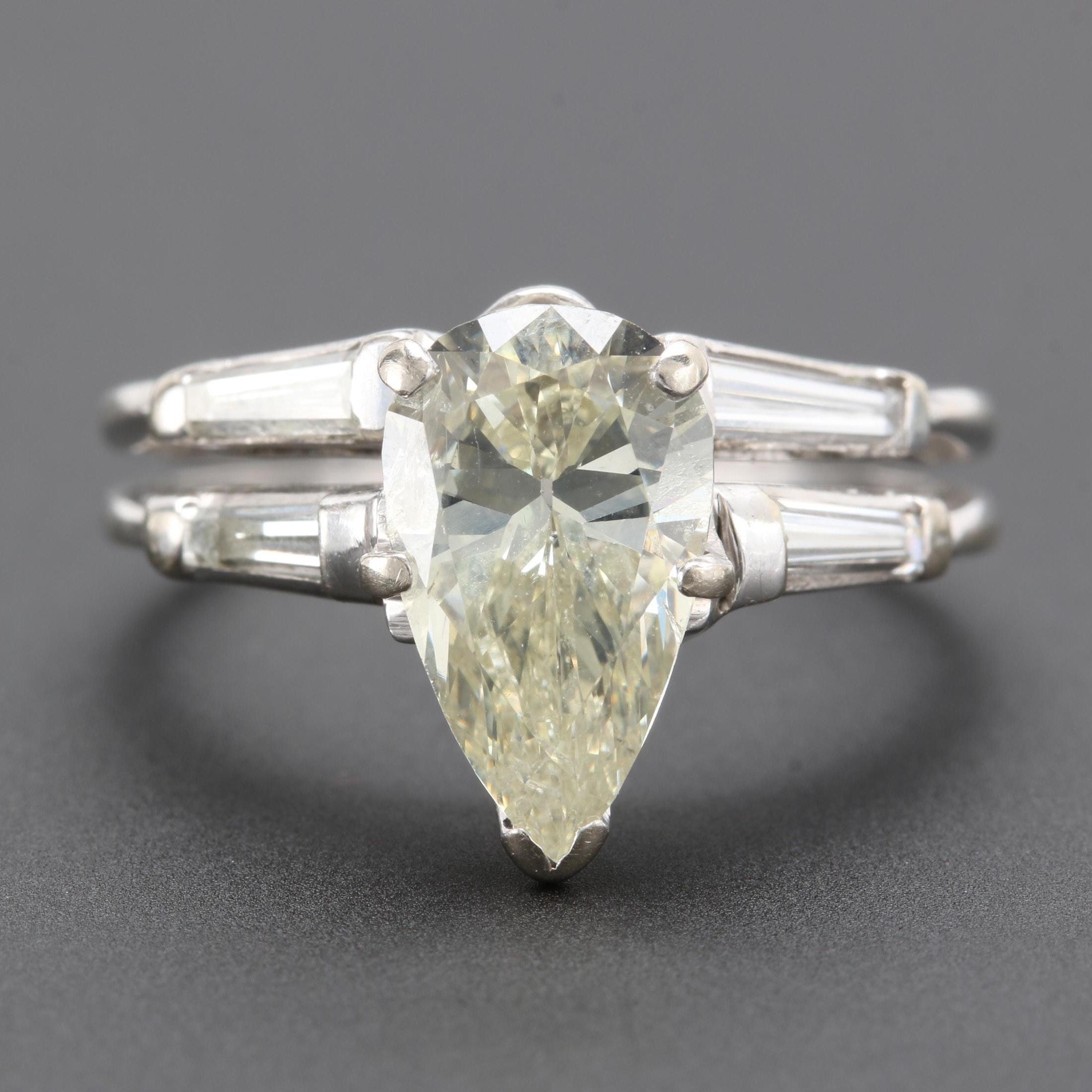 14K White Gold 2.55 CTW Diamond Ring