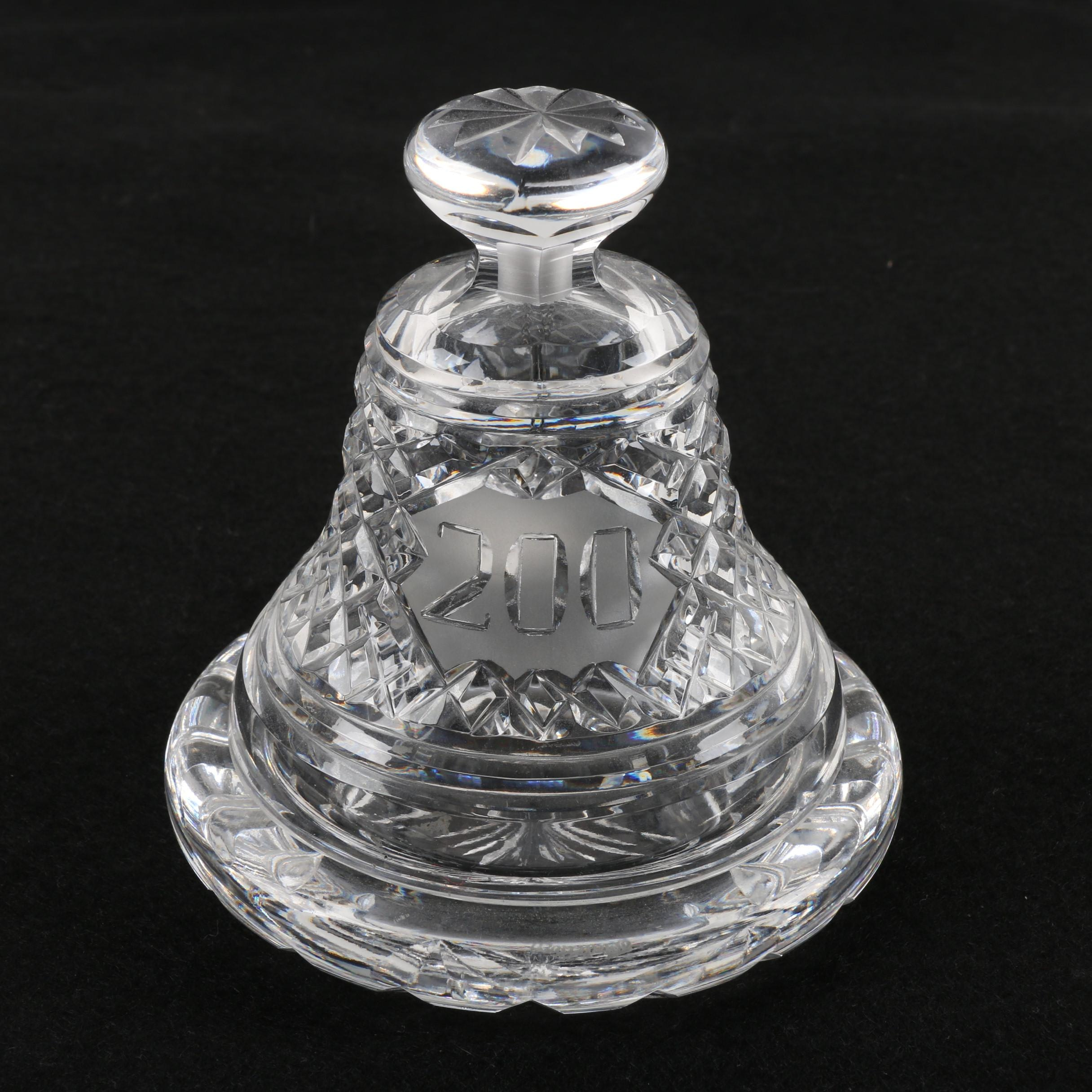 Waterford 1976 Commemorative Bicentennial Crystal Bell with Base