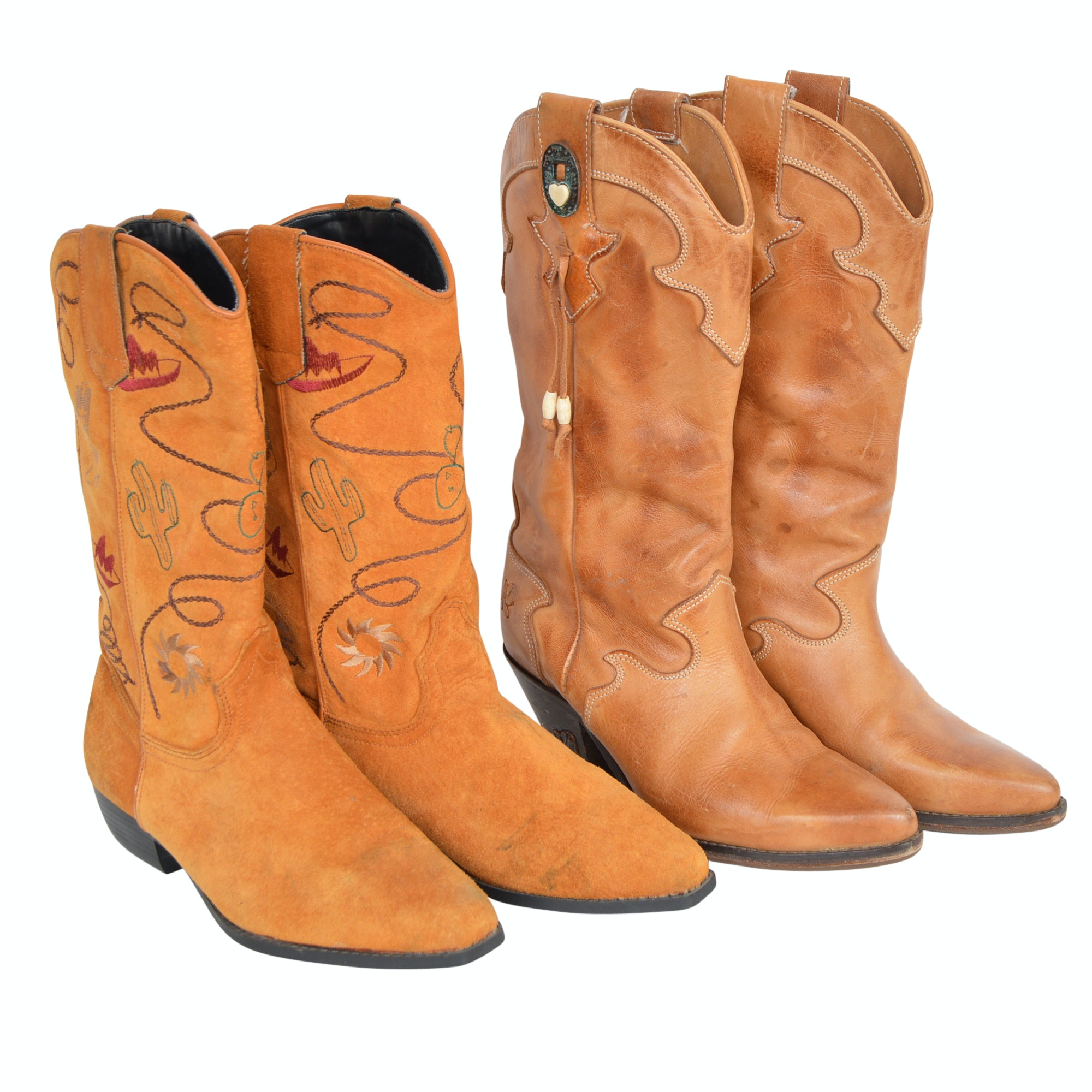 Women's Vintage Leather Western Boots
