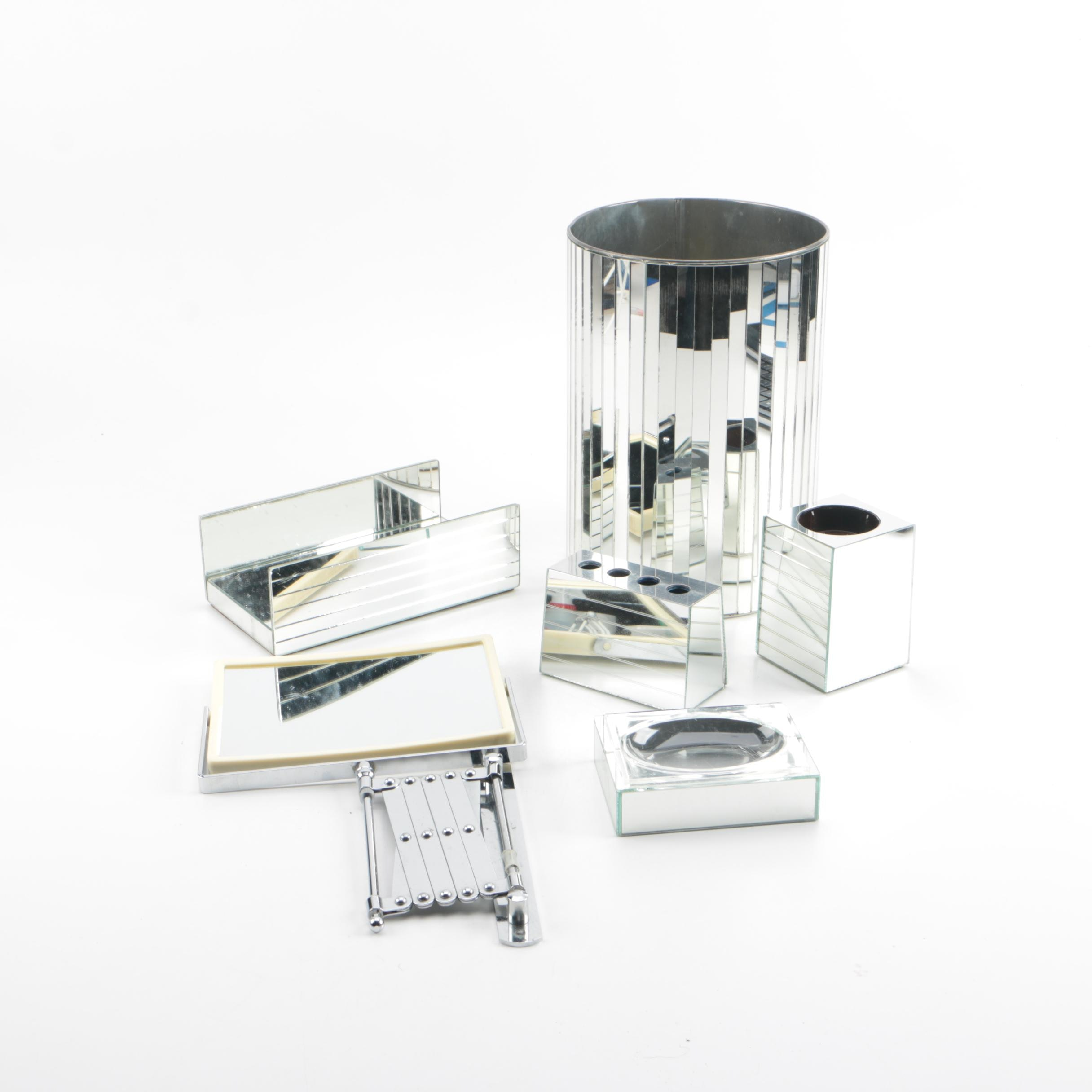 Mirrored Bathroom Accessories Including Imperial and Londonware