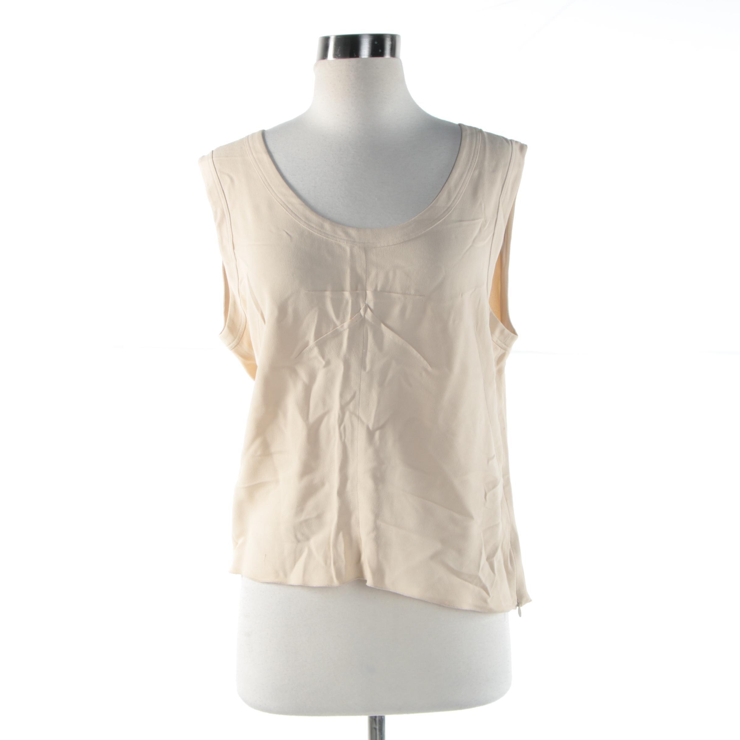 Women's Prada Beige Sleeveless Top