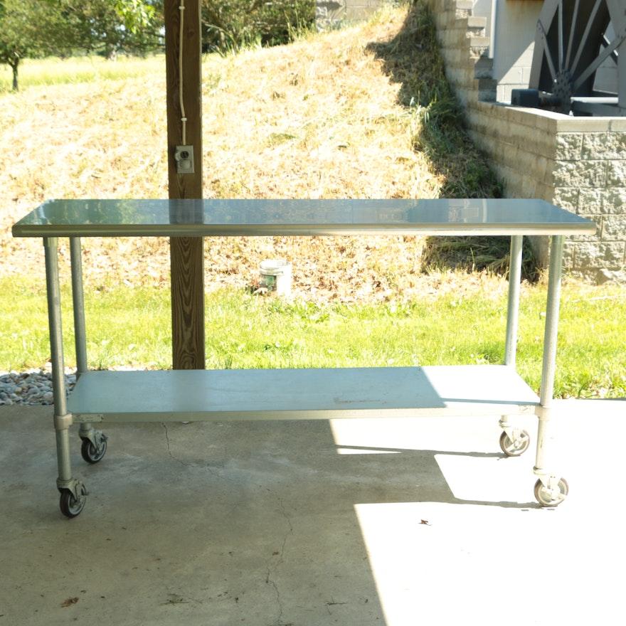 Duke stainless steel industrial kitchen work table ebth duke stainless steel industrial kitchen work table watchthetrailerfo