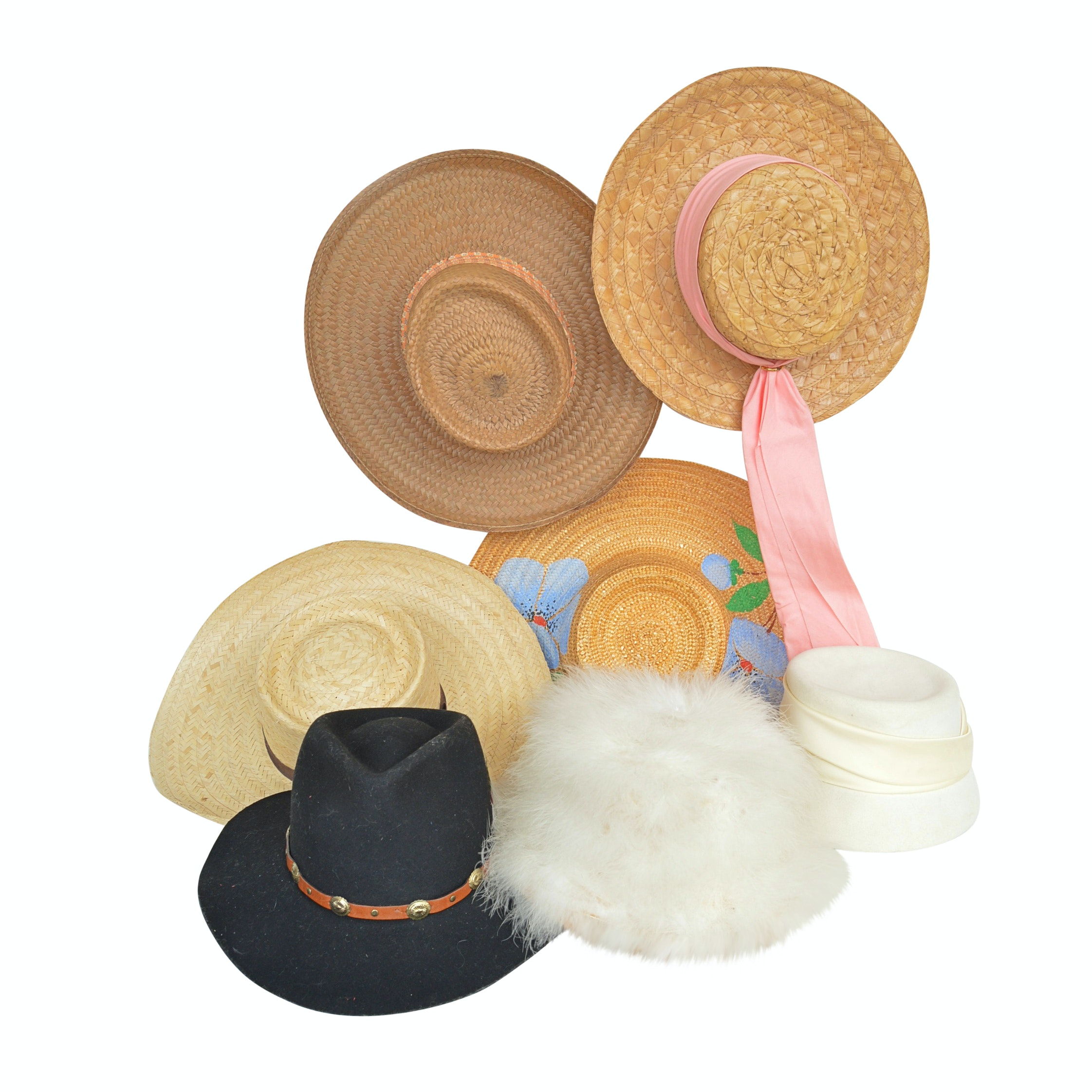 Collection of Women's Vintage Hats Including Joseph Magnin