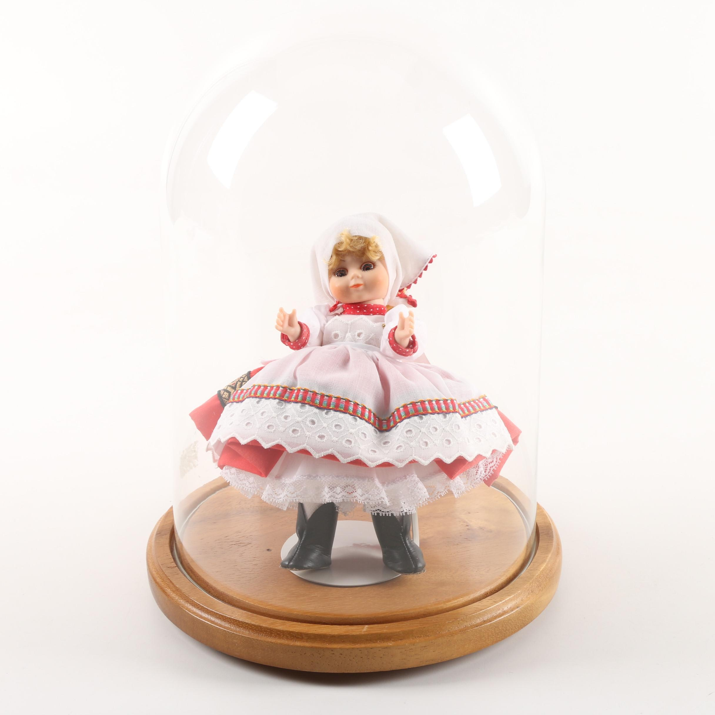 """Madame Alexander """"Russia"""" Doll with Display Case"""