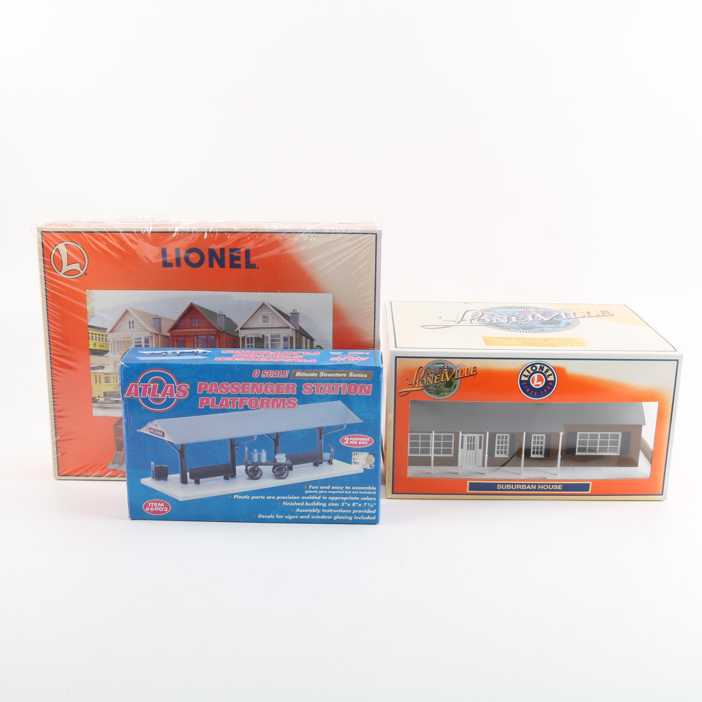 "Lionel and Atlas Building Kits Including ""Steiner"" Victorian House"