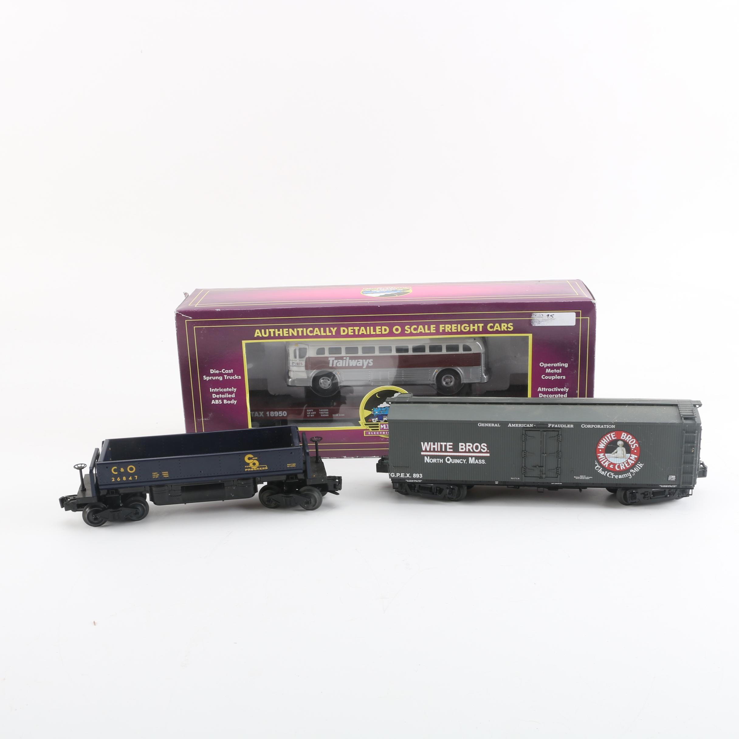 Lionel and M.T.H. Train Cars Including C&O Coal Dump Car