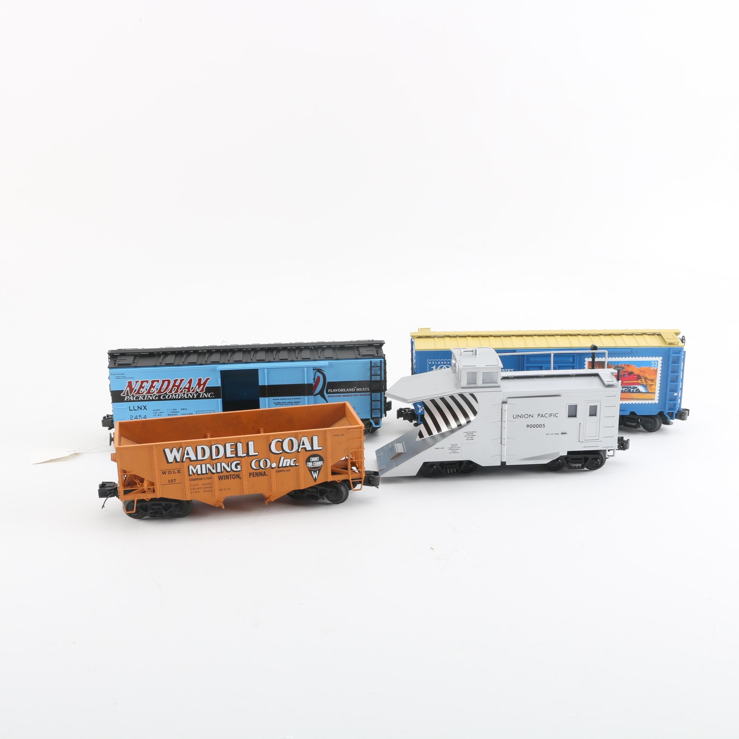 MTH Train Cars Including USPS and Union Pacific Snow Plow