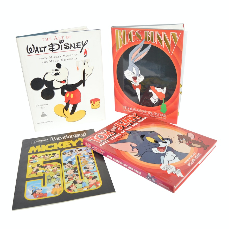 Disney, Bugs Bunny and Tom & Jerry Animation Books with First Edition