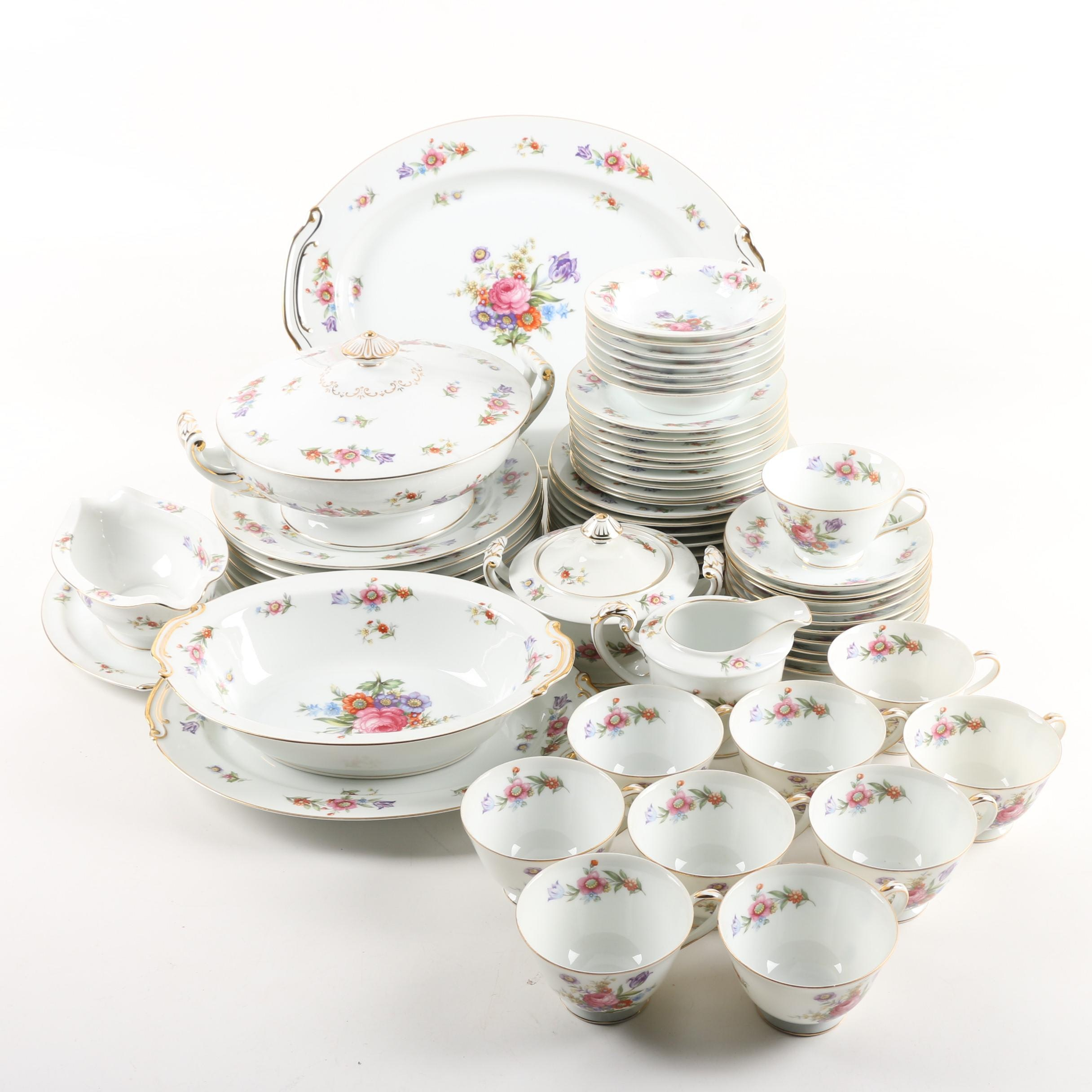 Sango China Floral Themed Tableware