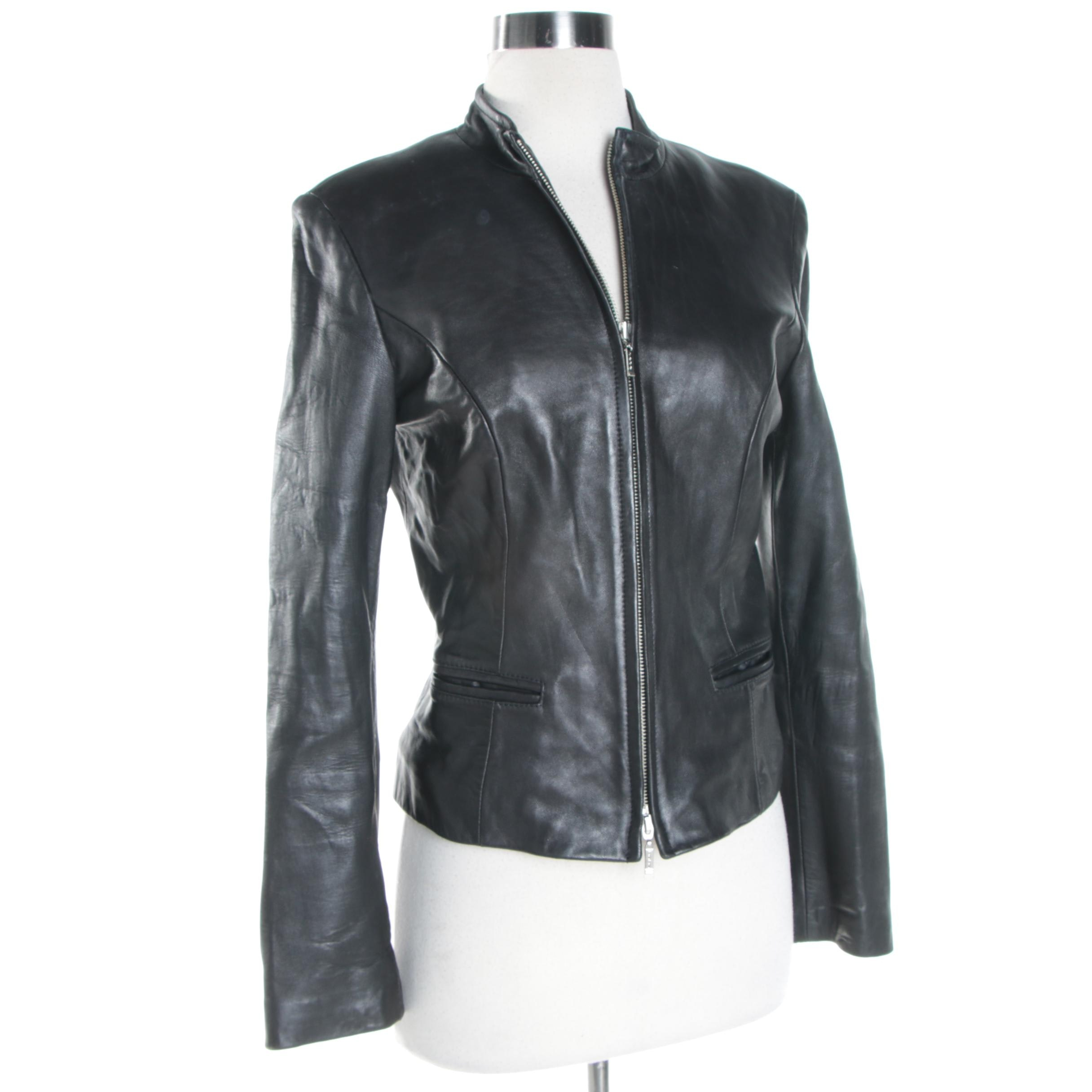 Women's Bebe Black Leather Jacket