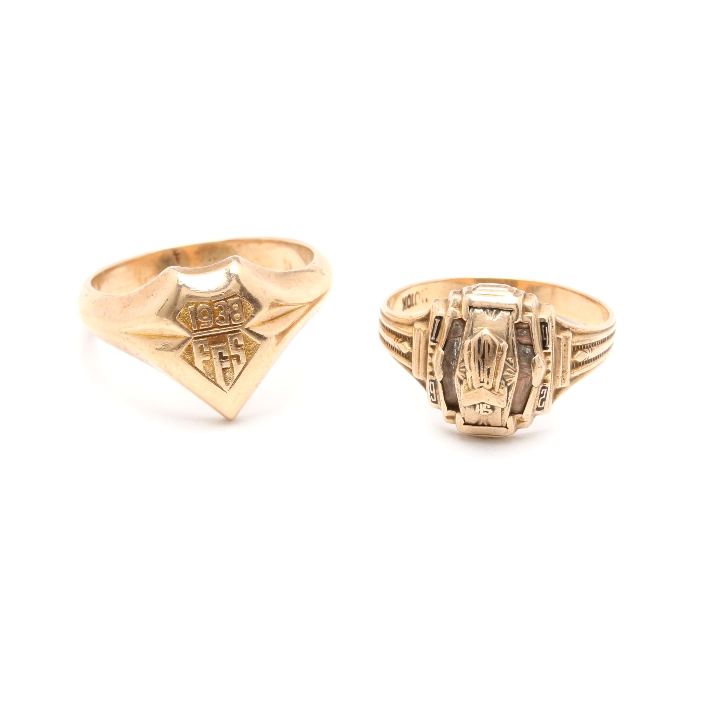 Vintage 10K Yellow Gold Rings