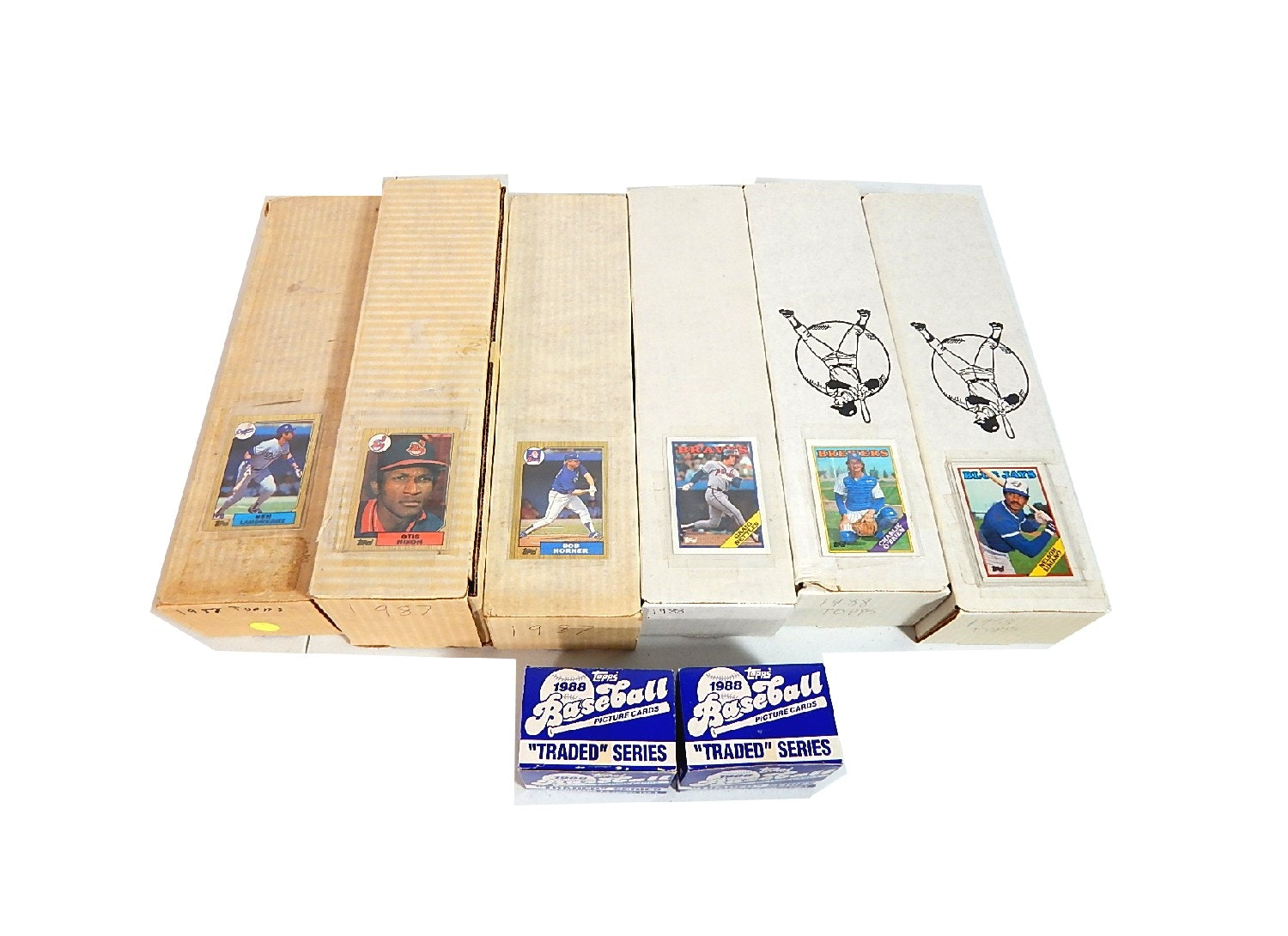 8 Complete Topps Baseball Card Sets from 1987 and 1988