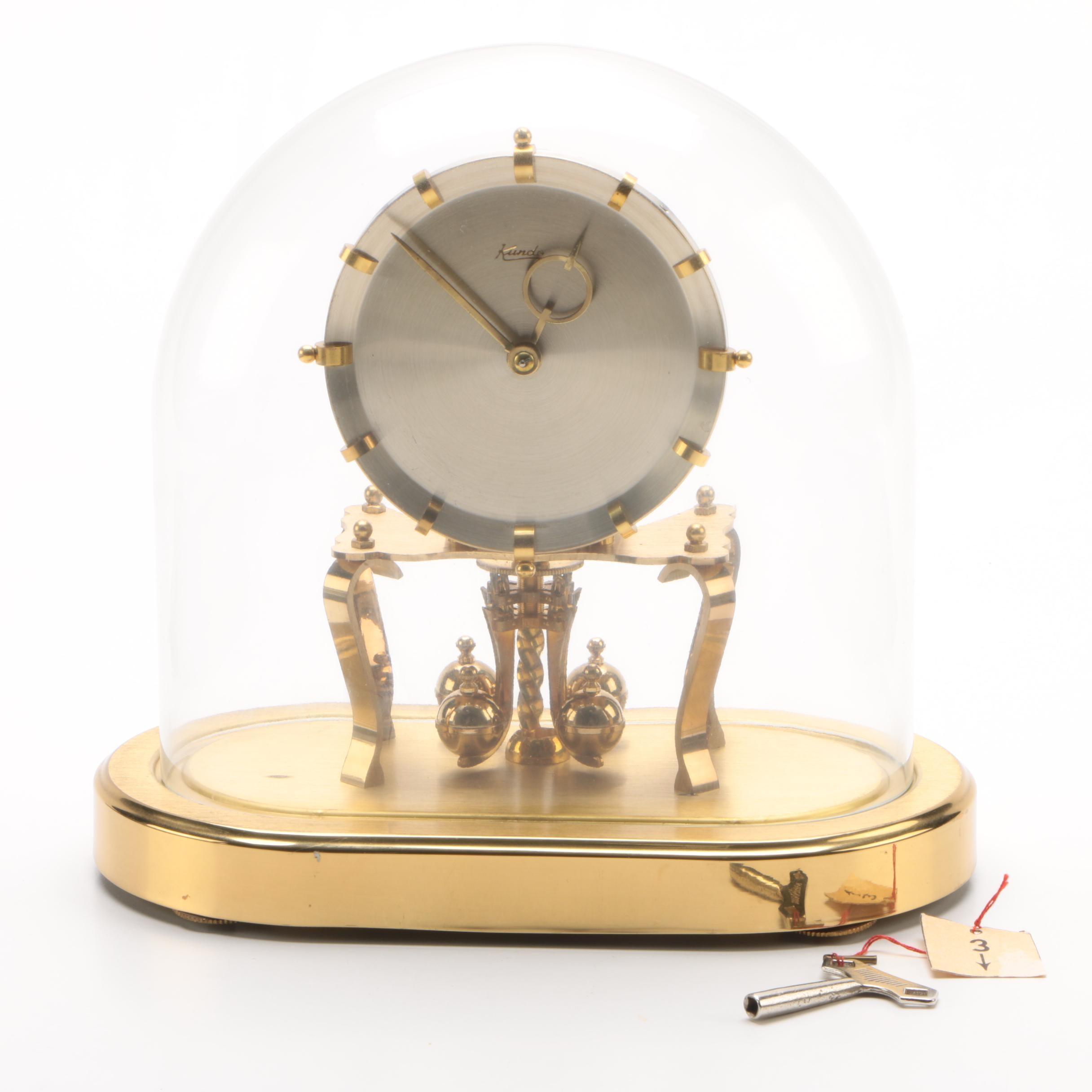 German Kundo Kieninger & Obergfell Anniversary Clock