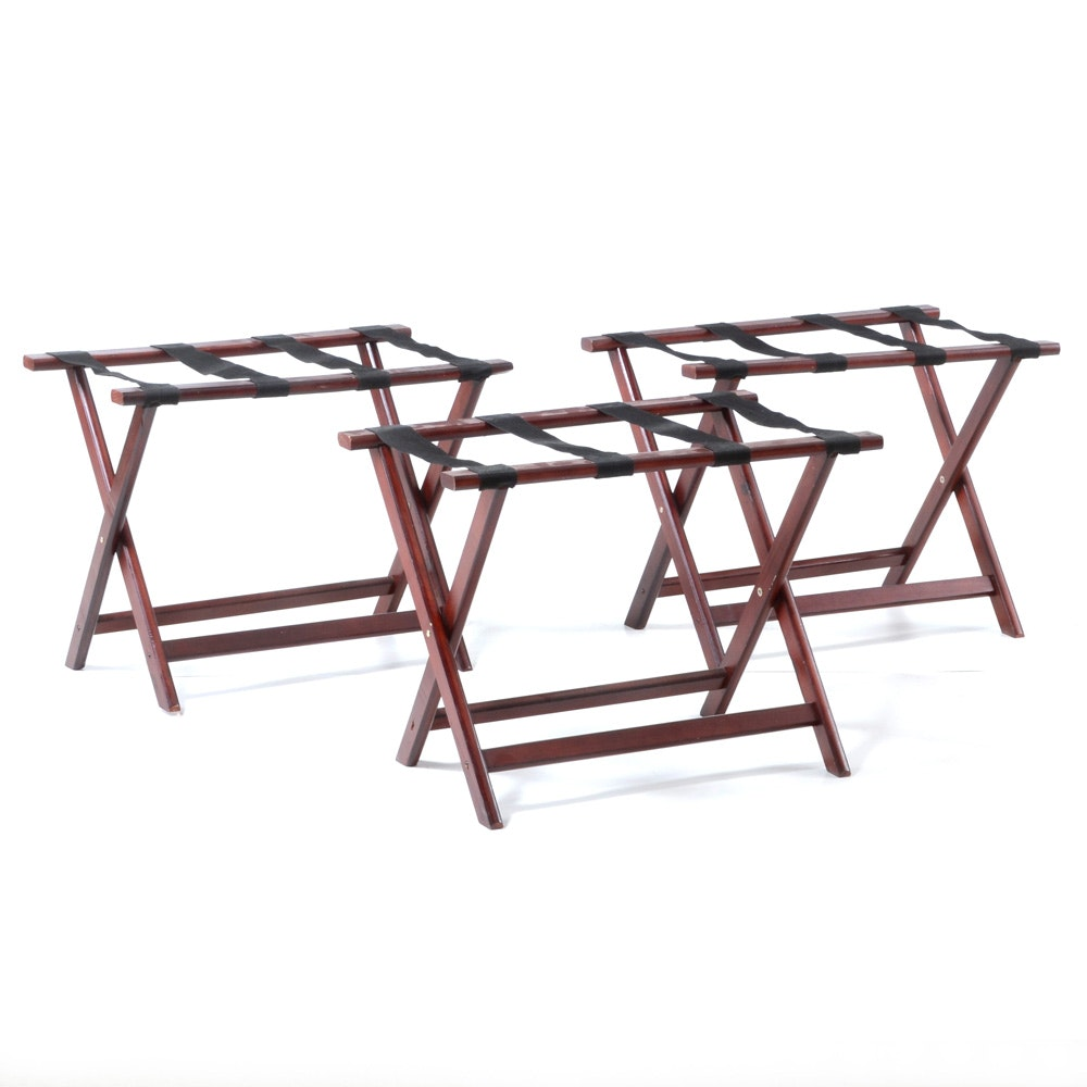 Three Folding Luggage Stands