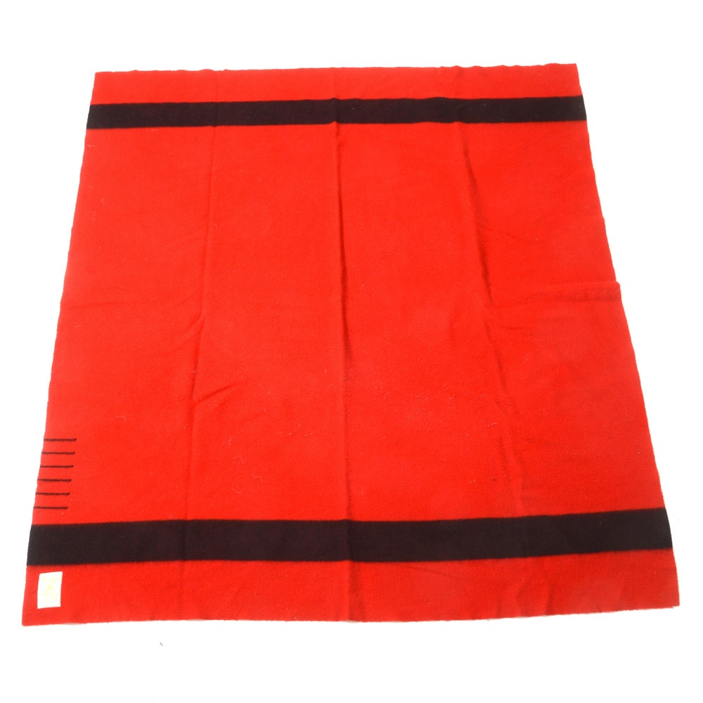Hudson's Bay Co. Wool Blanket in Red and Black