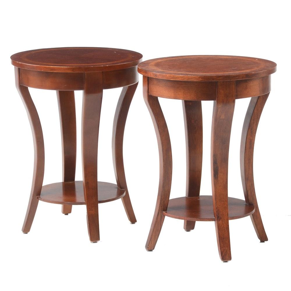 Pair of Circular End Tables
