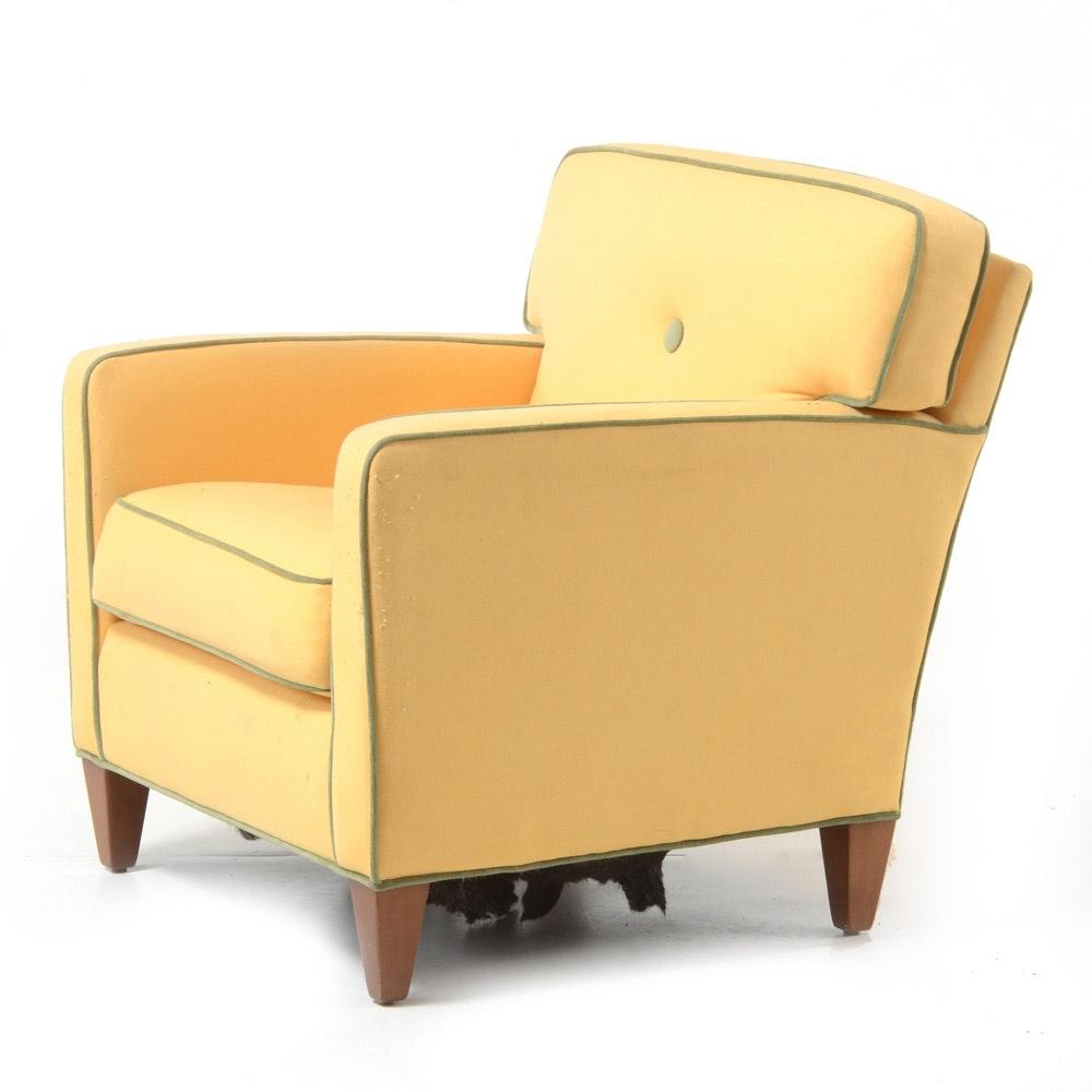 Ethan Allen Armchair in Yellow