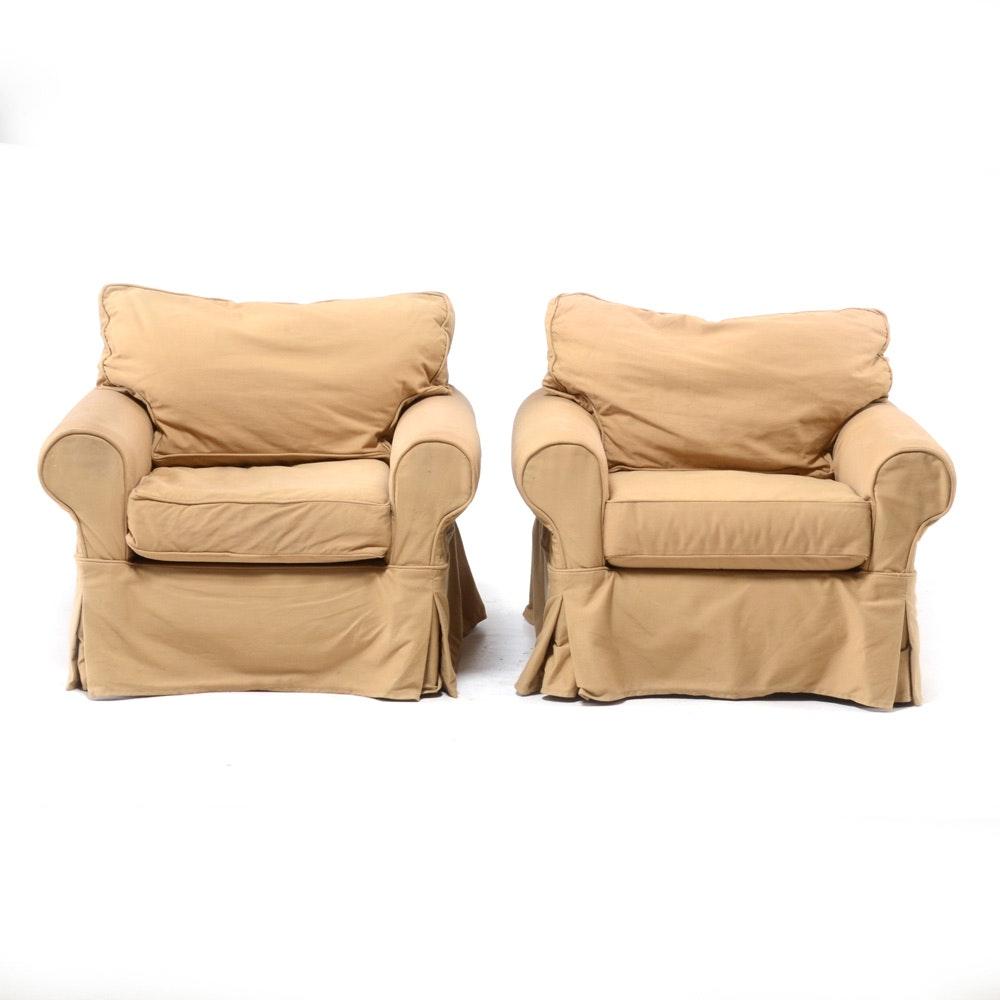 Pair of Beige Armchairs